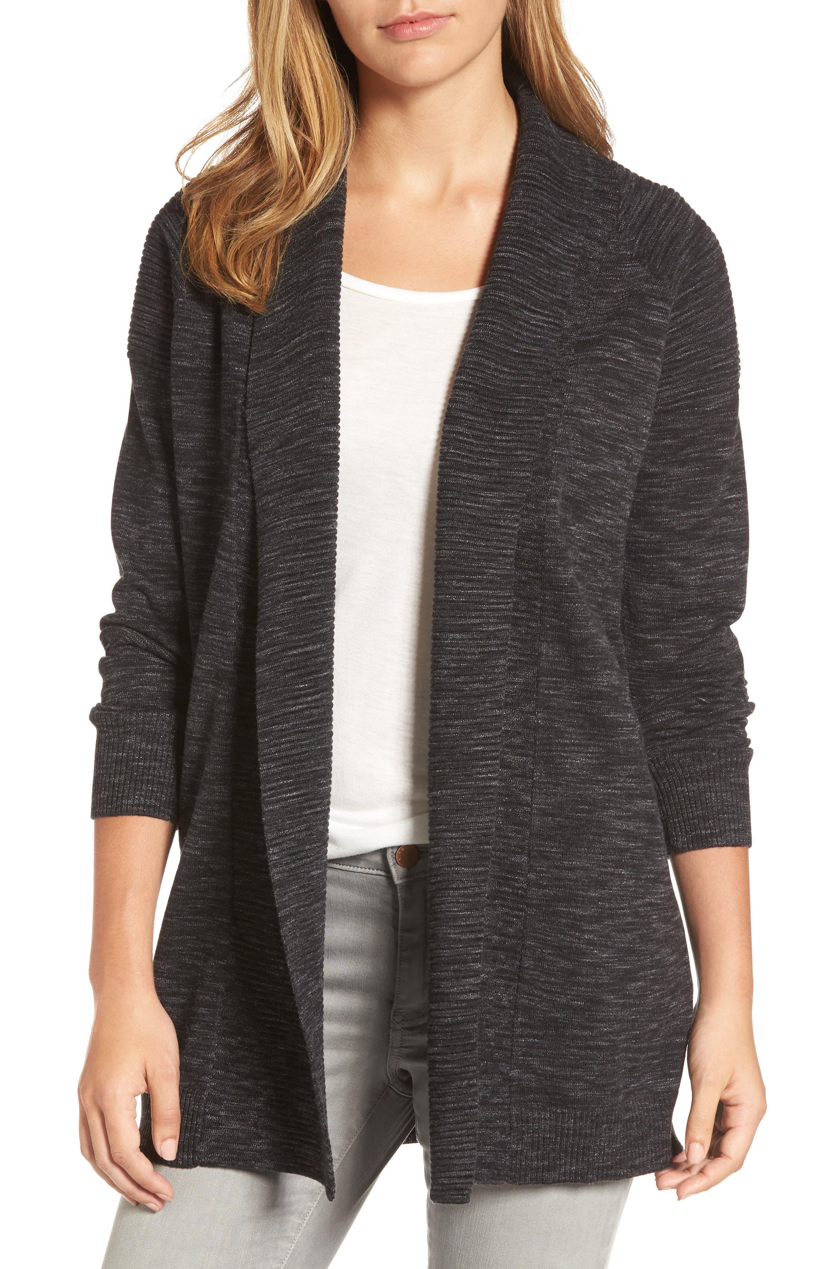 Caslon® Shawl Collar Cardigan (Regular & Petite)