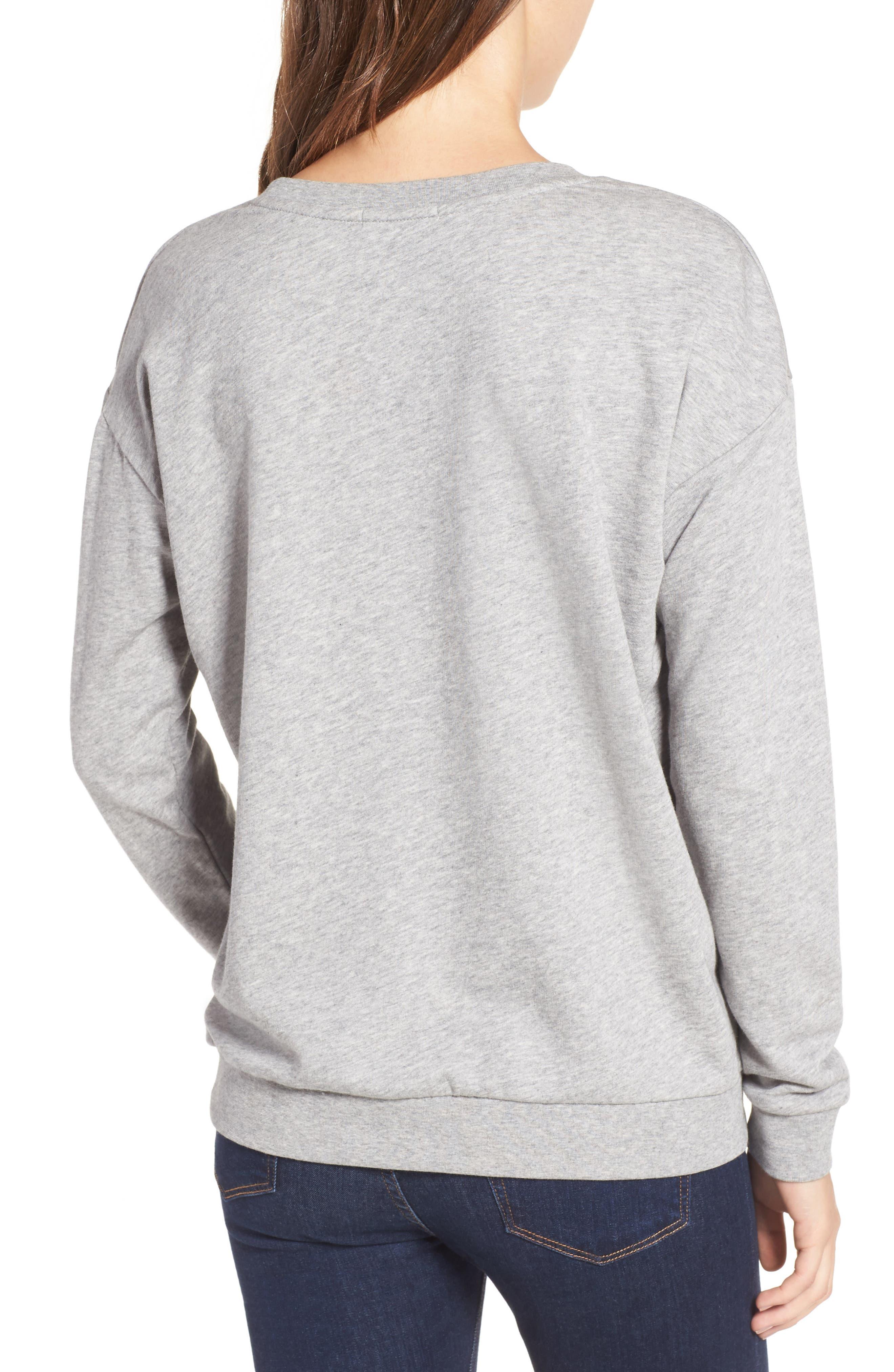 Pompom Sweatshirt,                             Alternate thumbnail 2, color,                             Grey