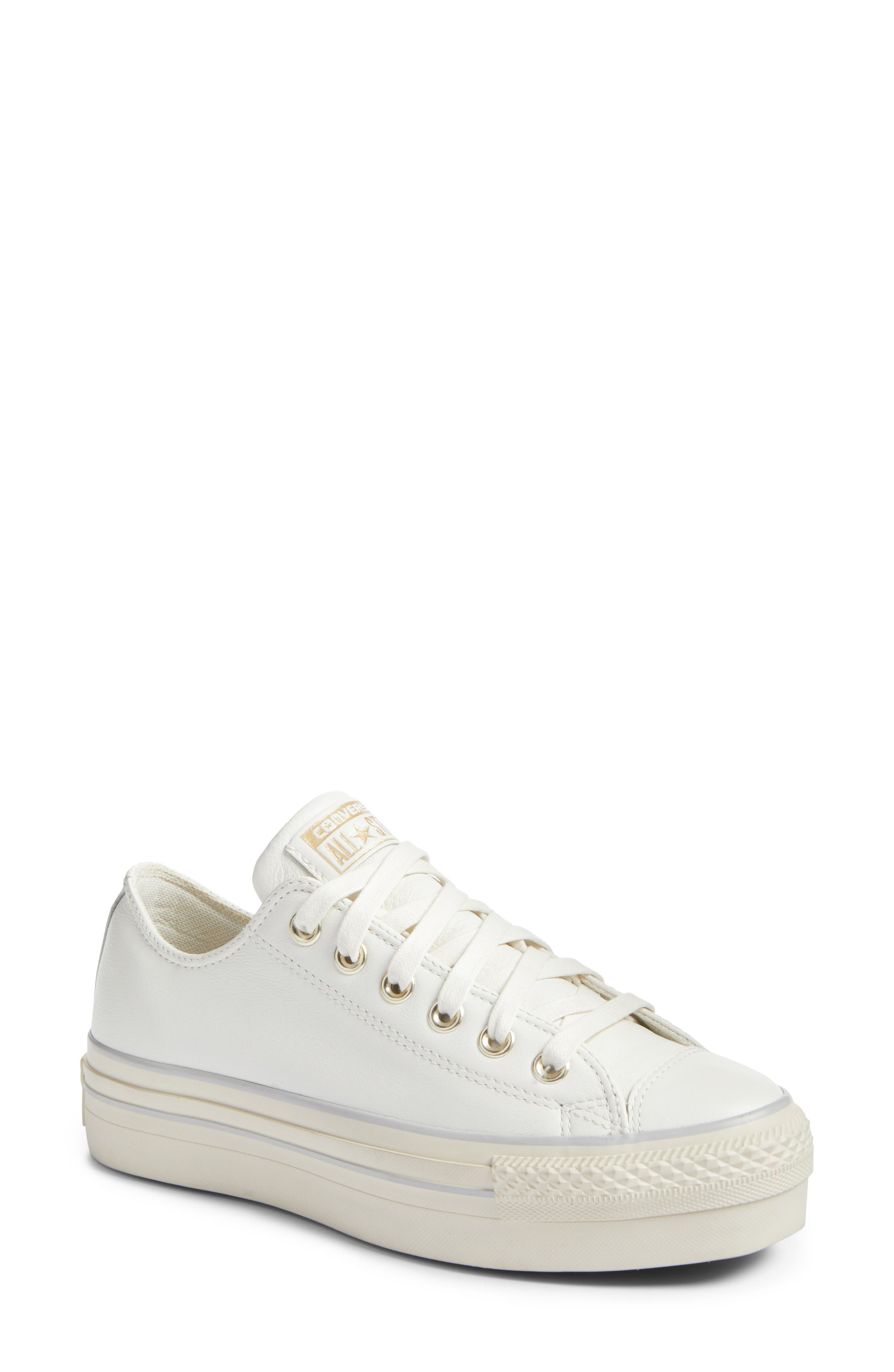 converse shoes all white. converse chuck taylor® all star® platform sneaker (women) shoes white x