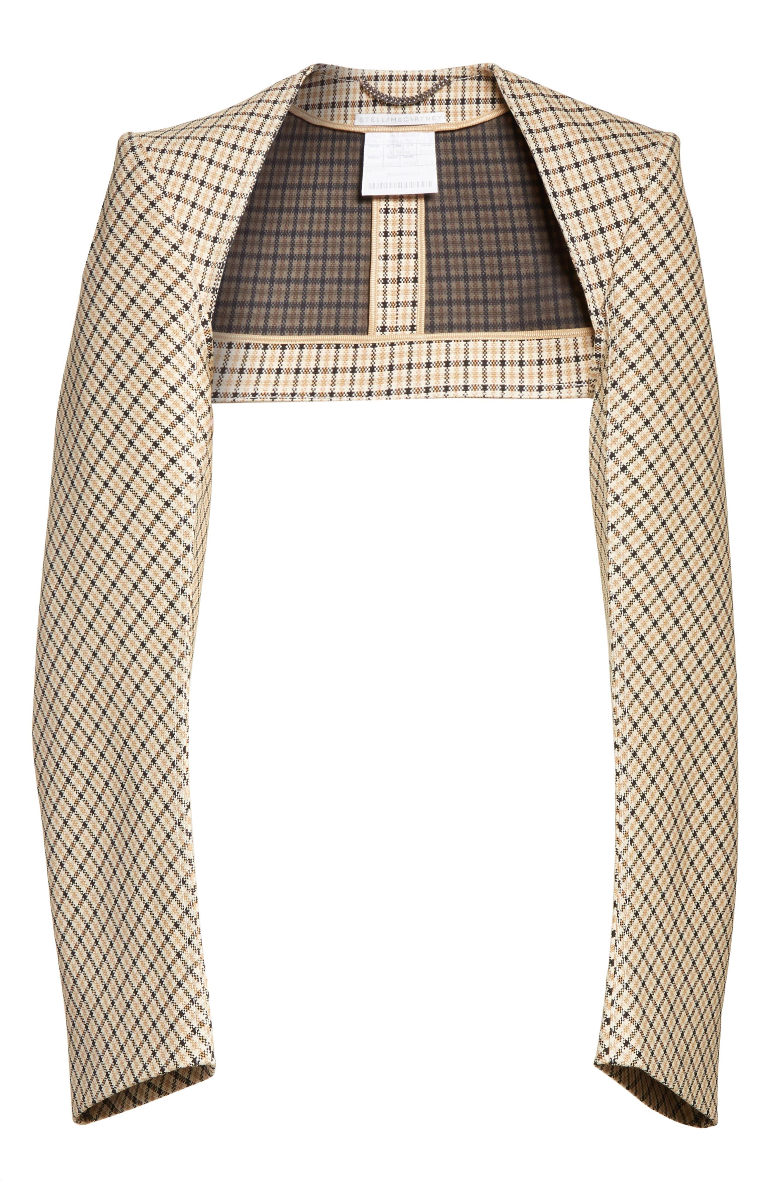 Alternate Image 6  - Stella McCartney Check Wool Blend Shrug