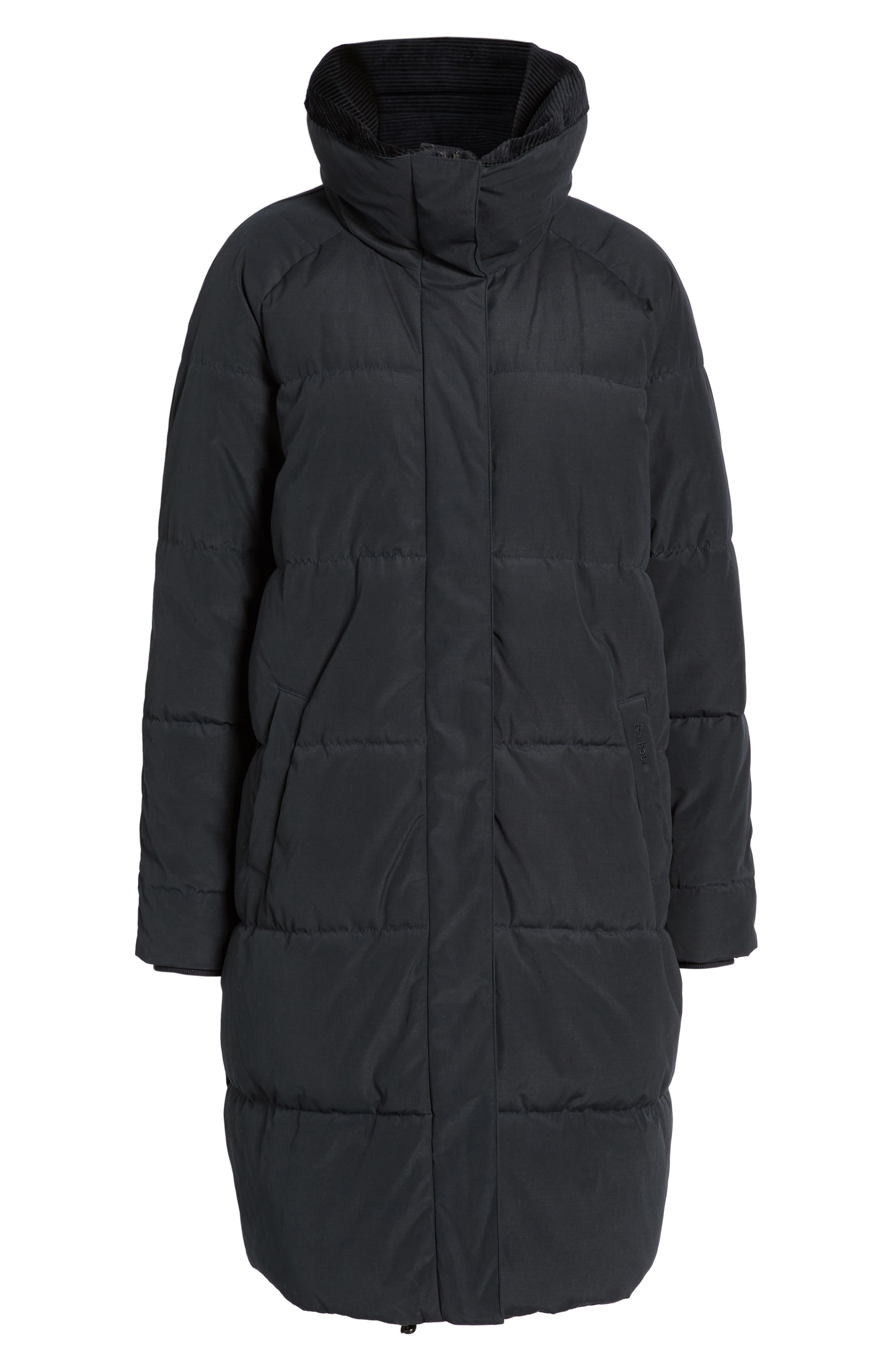 Leck Water Resistant Baffle Quilted Coat,                             Alternate thumbnail 6, color,                             Navy