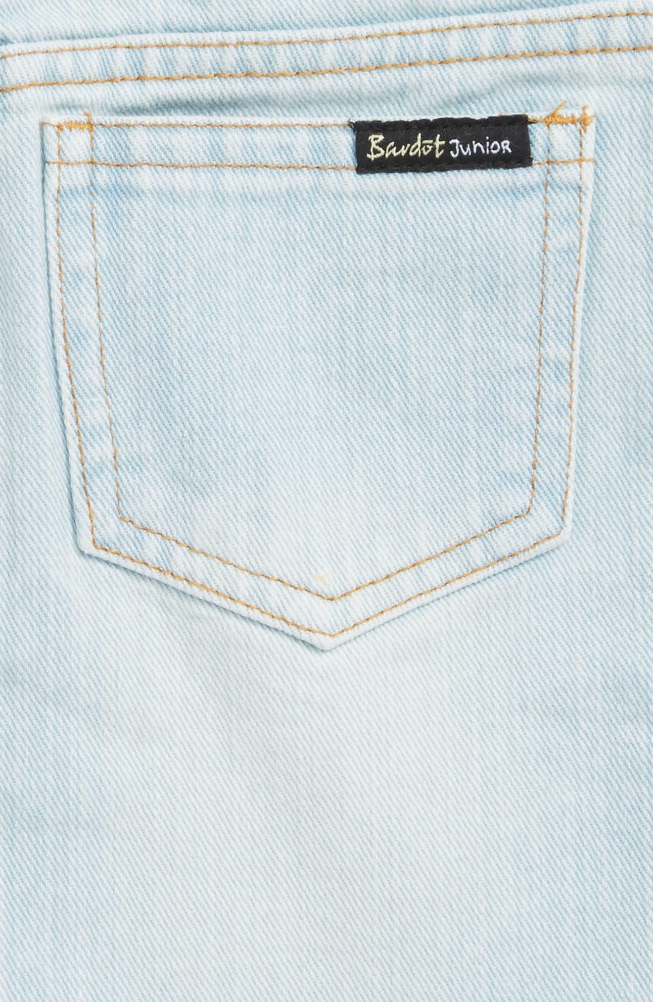 Alternate Image 3  - Bardot Junior Embroidered Denim Skirt (Little Girls)