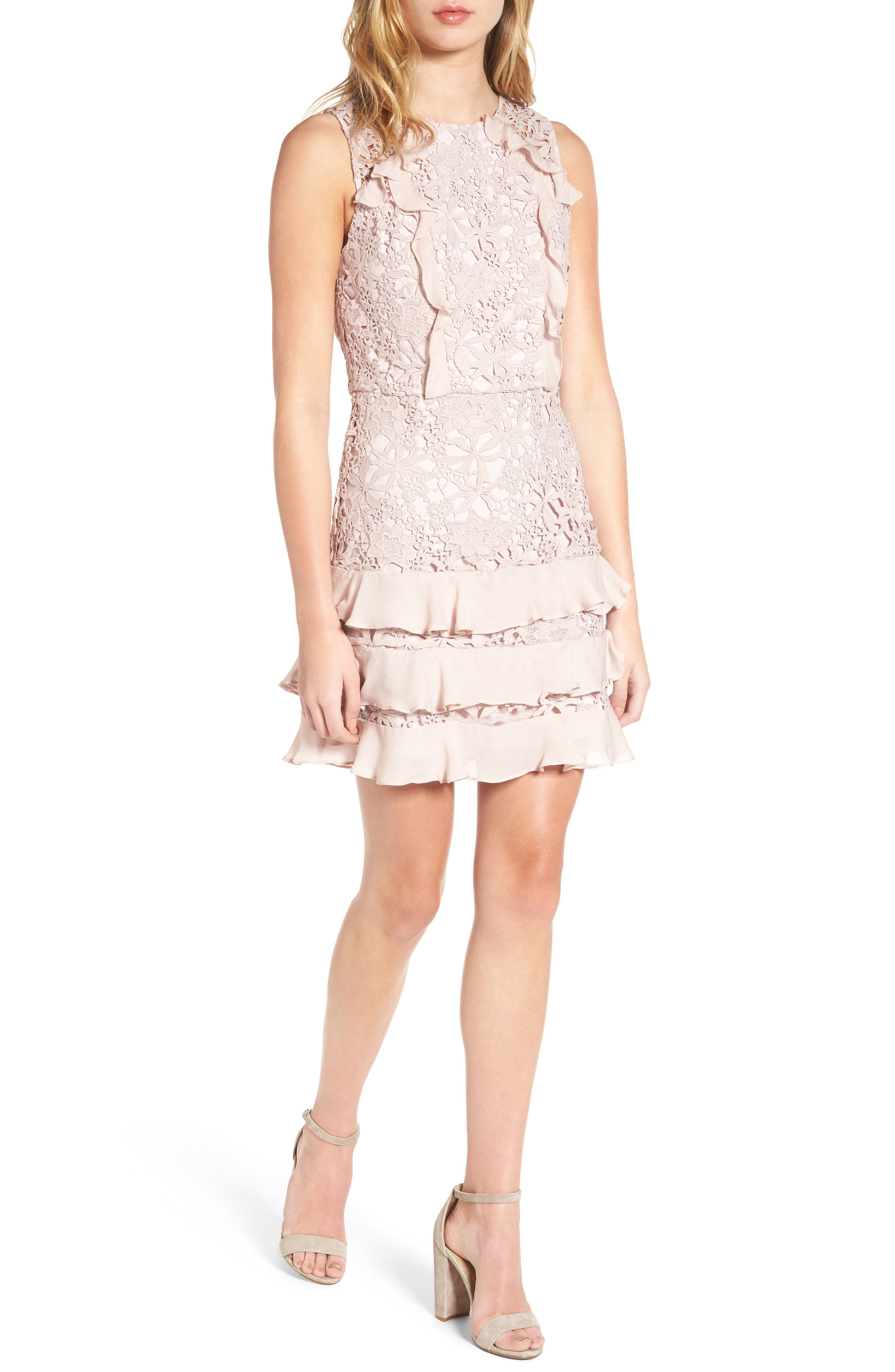 Parker Zahara Lace Silk Sheath Dress