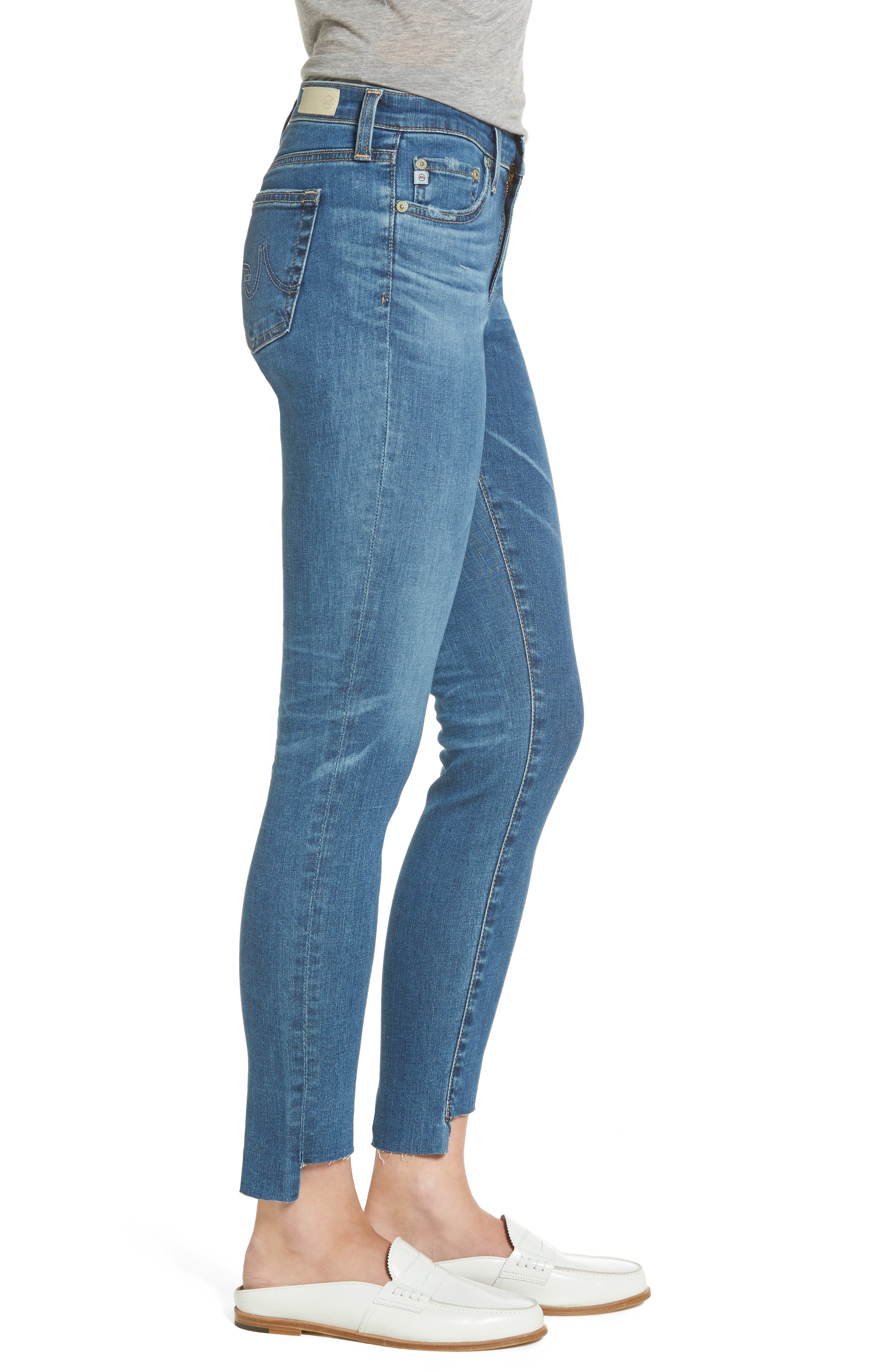 The Legging Step Hem Ankle Skinny Jeans,                             Alternate thumbnail 3, color,                             14 Years Blue Nile