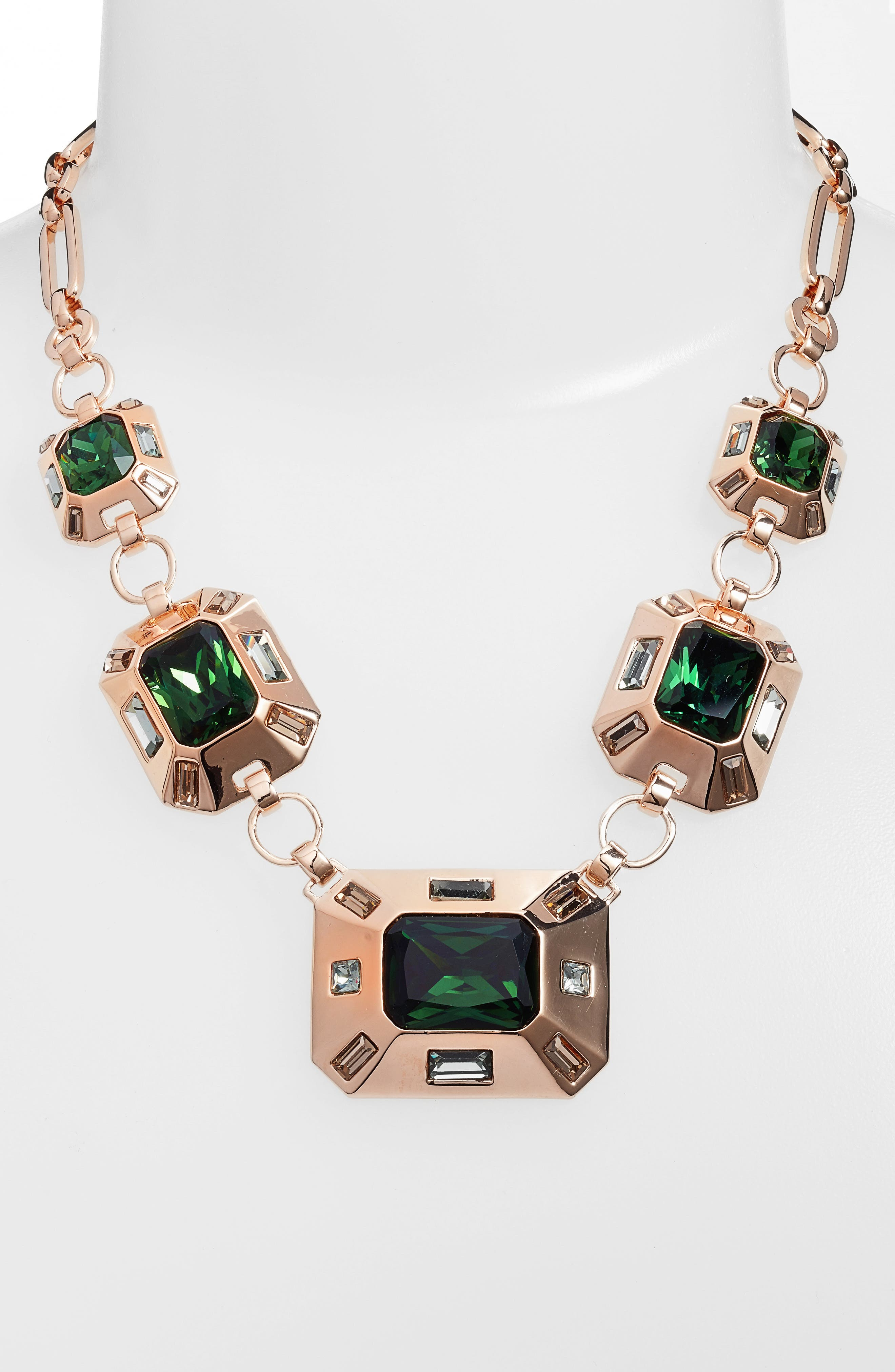 Frontal Necklace,                             Alternate thumbnail 2, color,                             Burnt Rose Gold