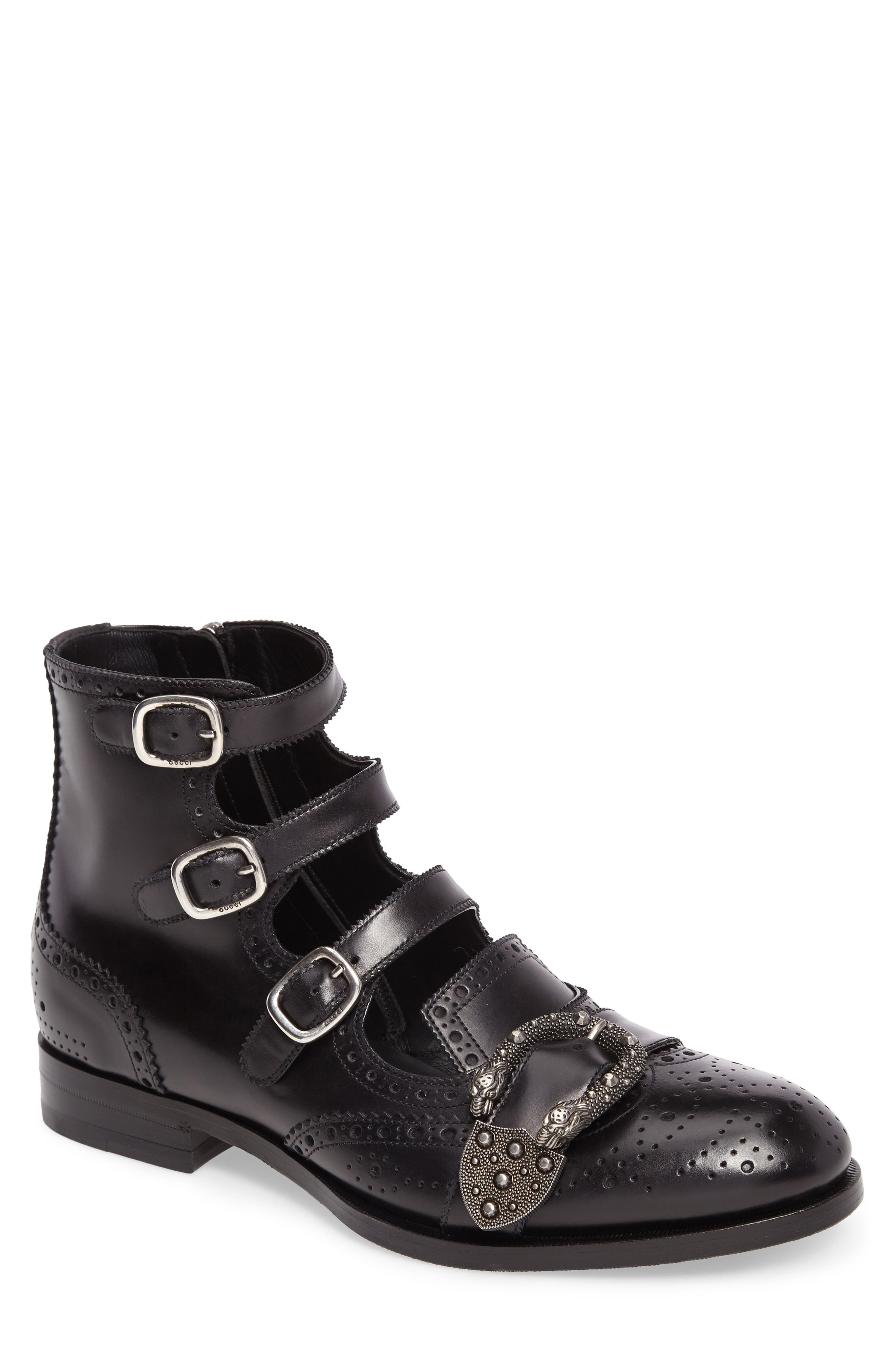 Queercore Boot,                             Main thumbnail 1, color,                             Nero Leather