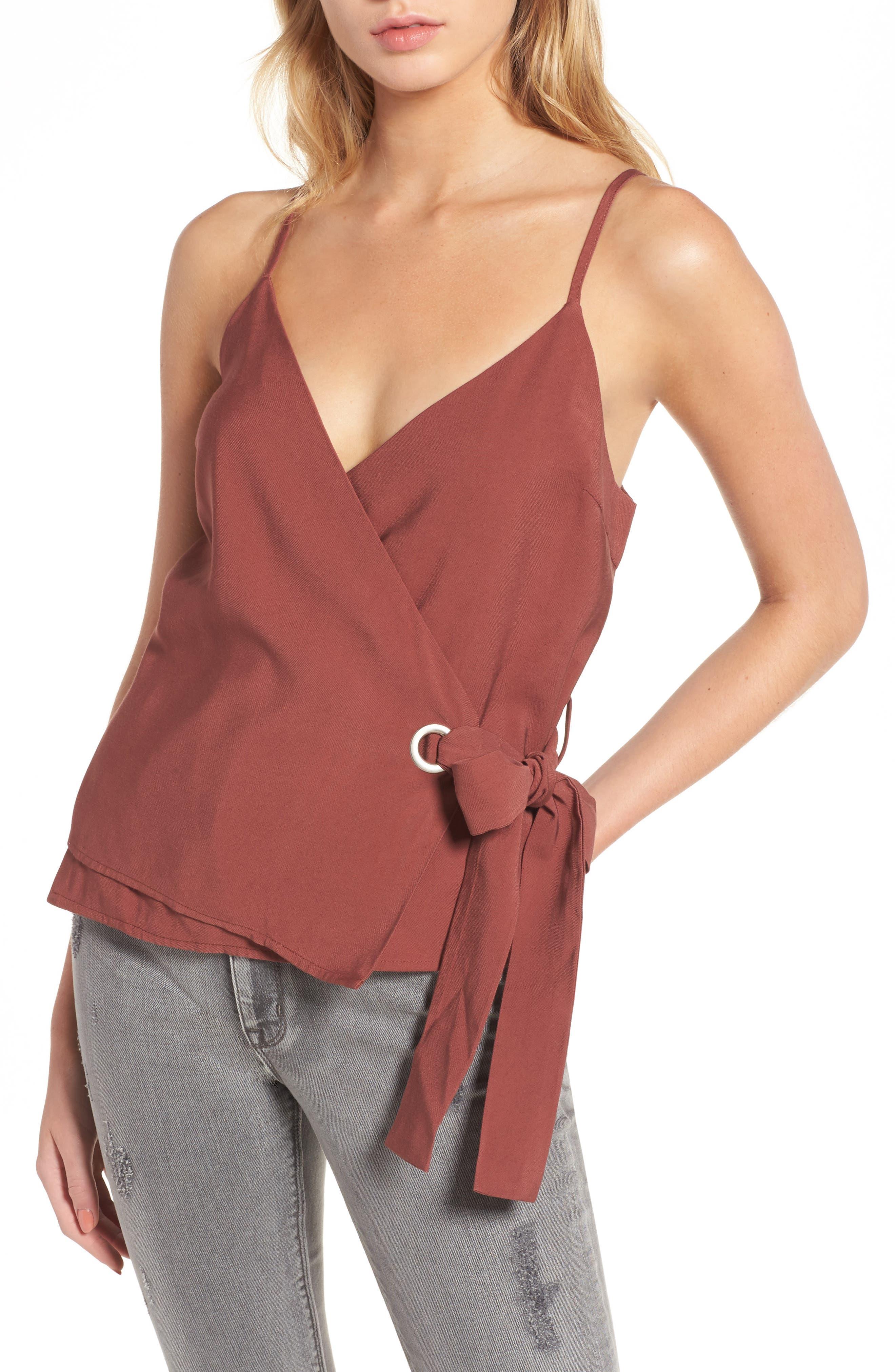 Main Image - J.O.A. Side Tie Wrap Camisole