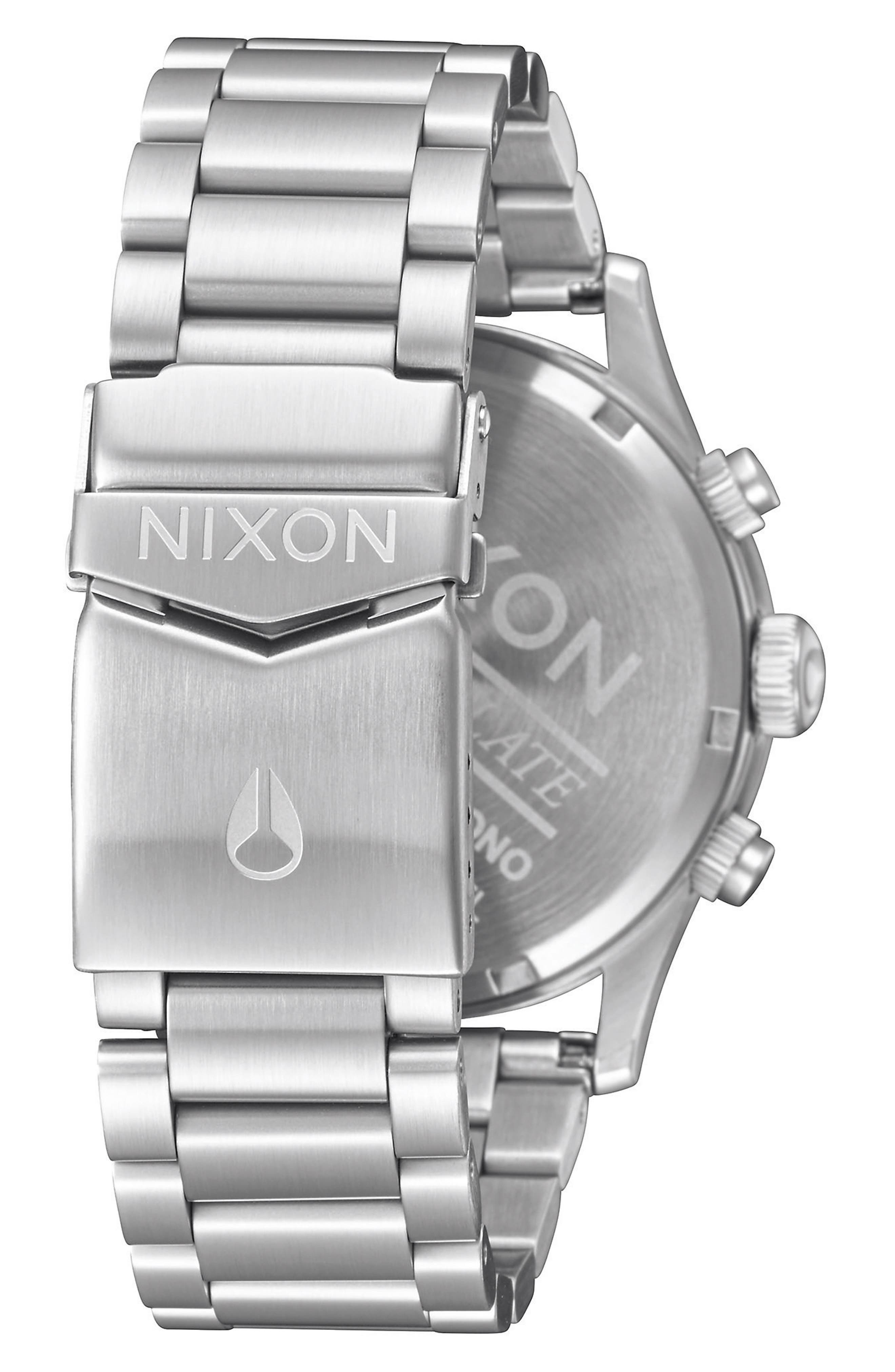 'The Sentry' Chronograph Bracelet Watch, 42mm,                             Alternate thumbnail 2, color,                             Silver/ Black