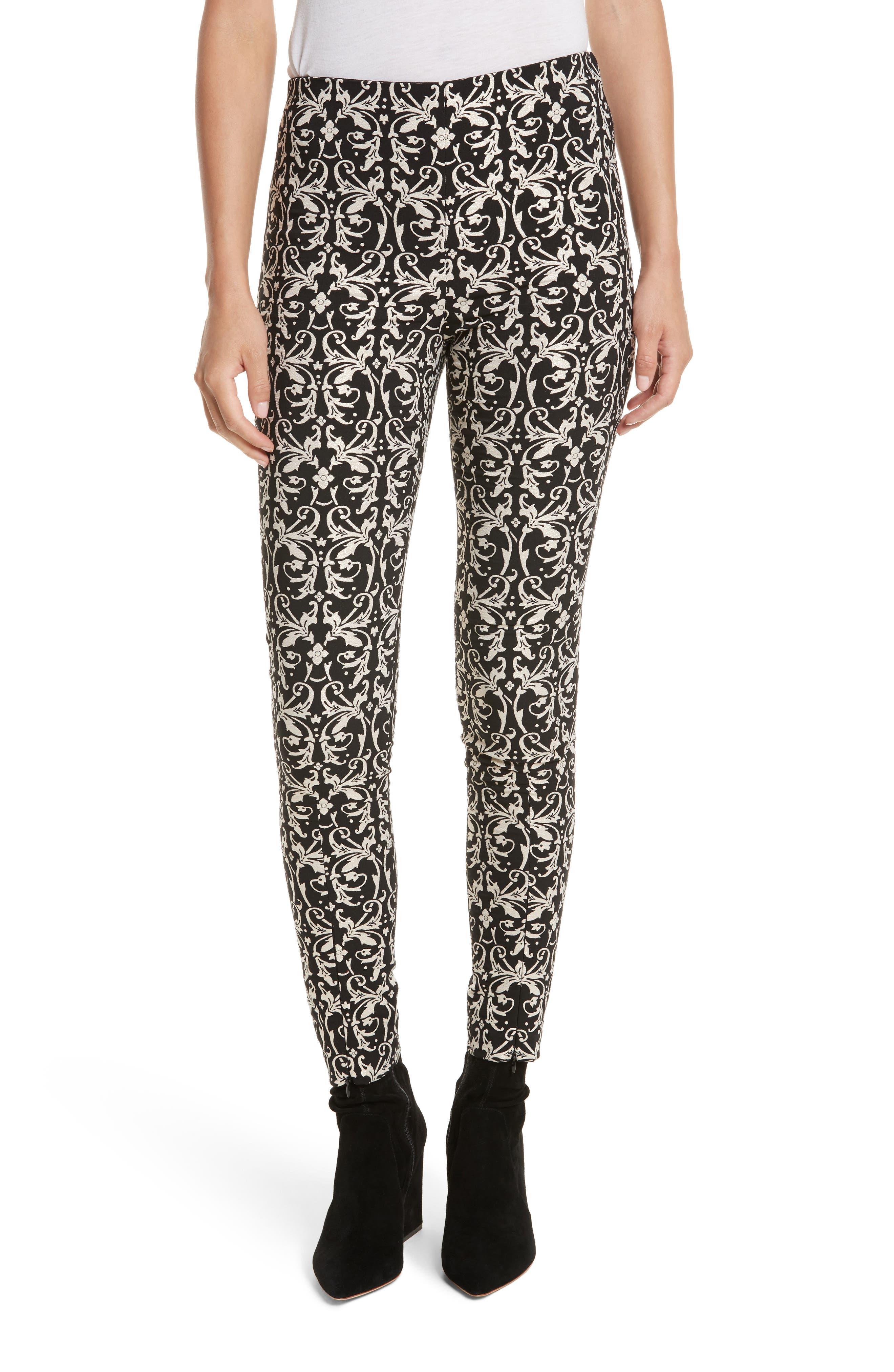 Main Image - Alice + Olivia Royce Side Zip Legging