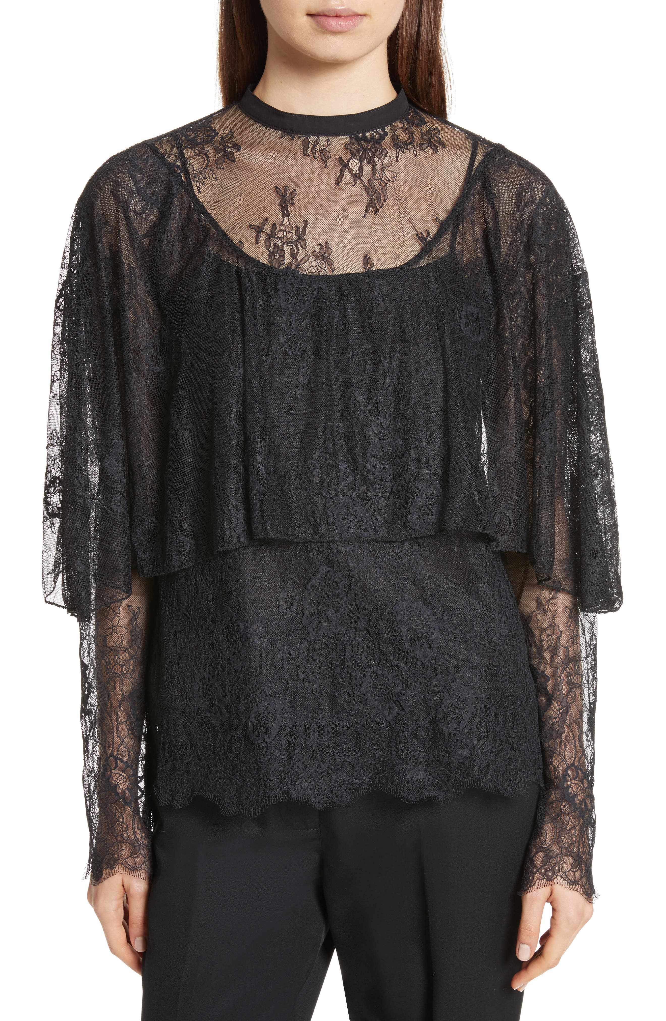 Robert Rodriguez Lace Popover Top