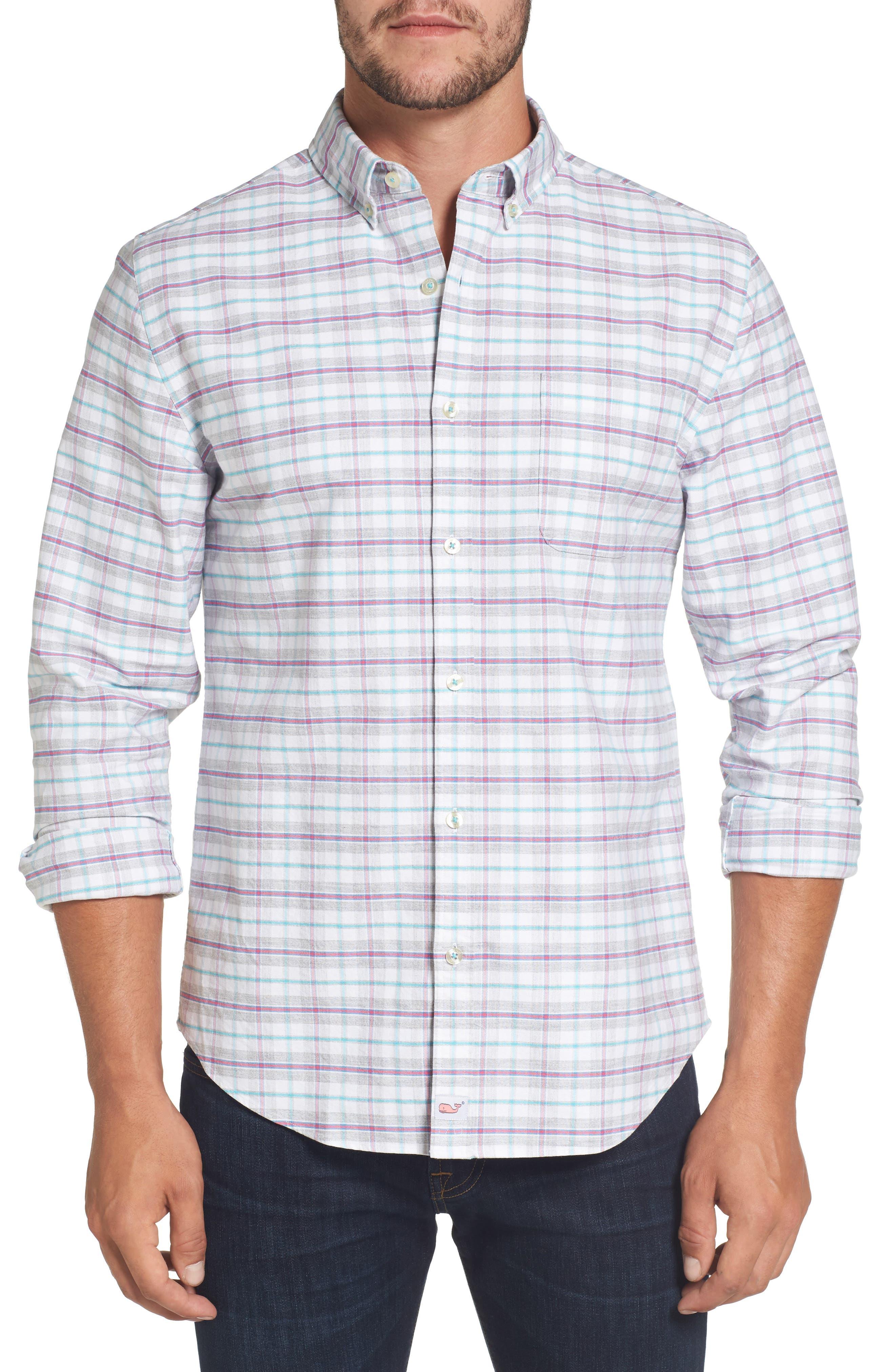 Main Image - vineyard vines Lockwood Slim Fit Check Sport Shirt