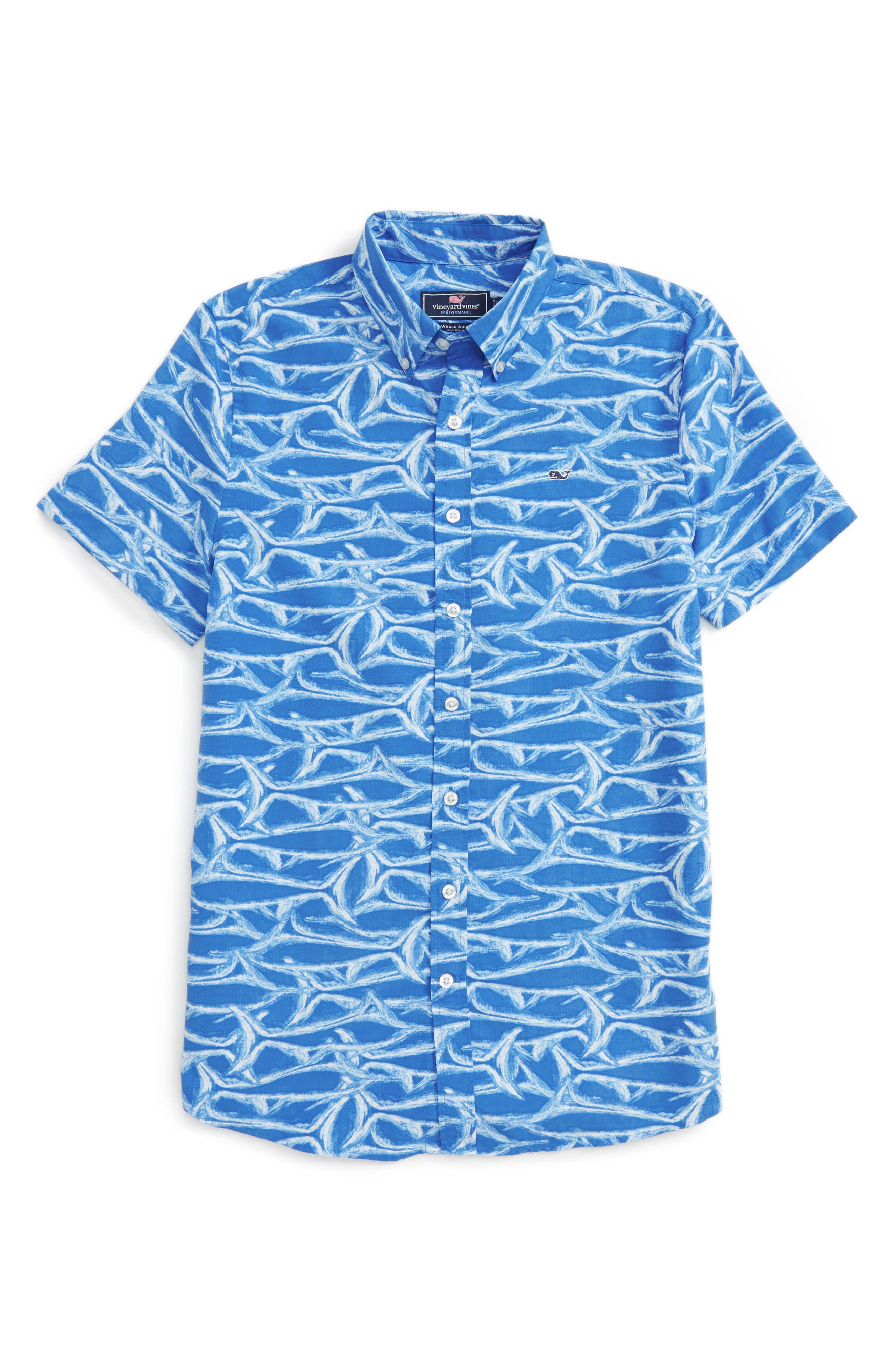 Brushed Marlin Whale Shirt,                         Main,                         color, Hull Blue