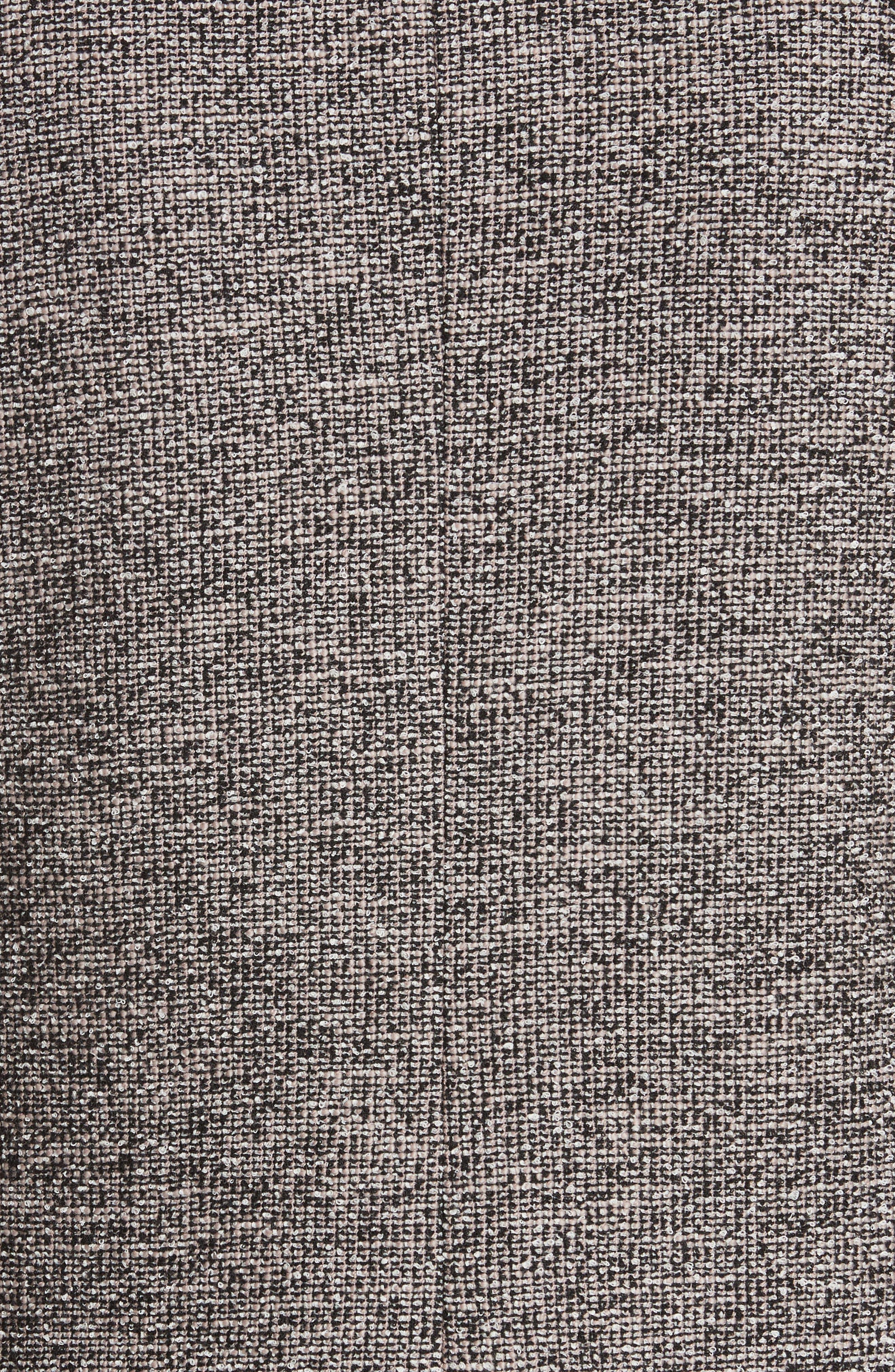 Embellished Stretch Tweed Jacket,                             Alternate thumbnail 5, color,                             Nude Combo