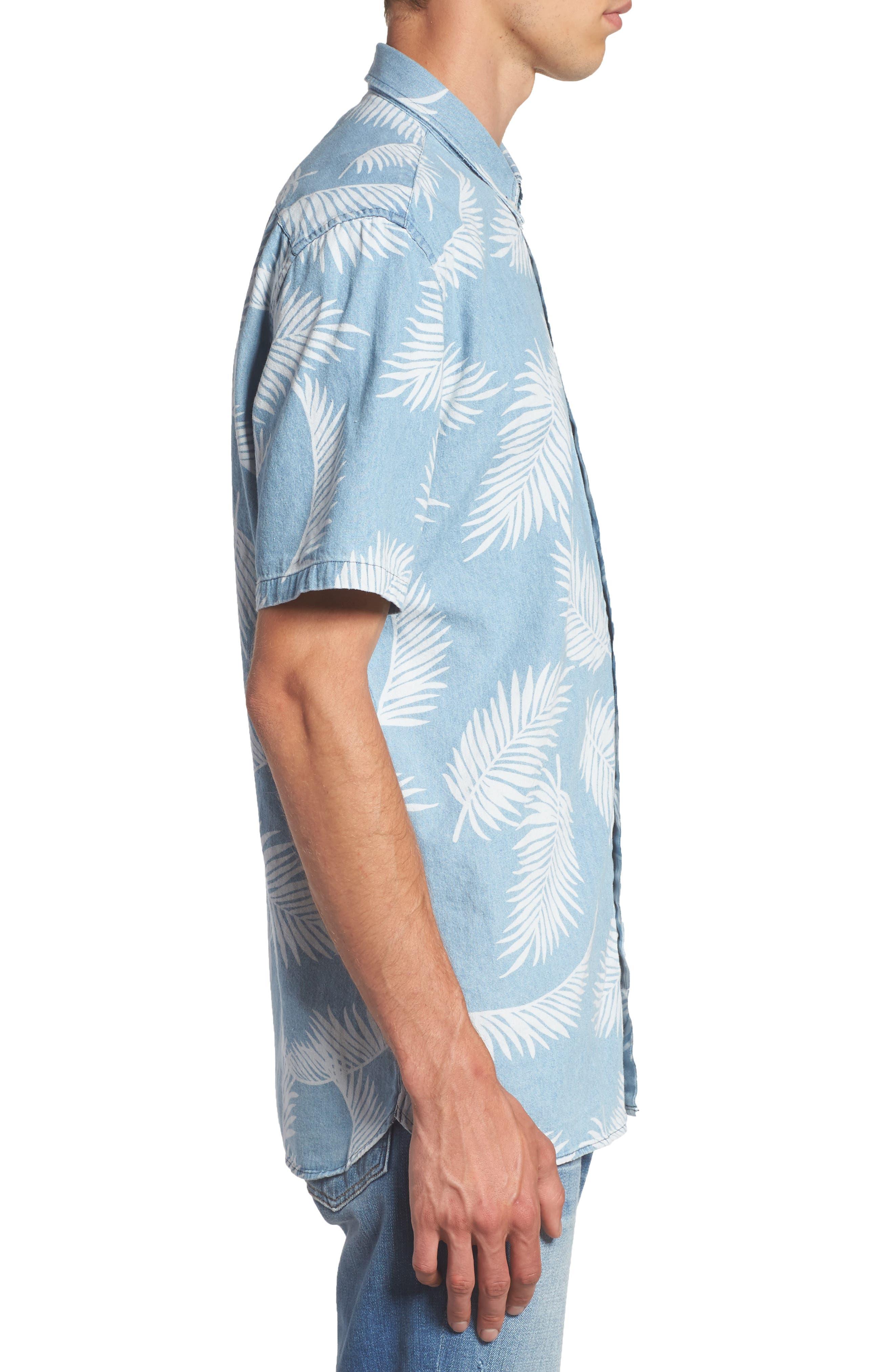 Bahamas Shirt,                             Alternate thumbnail 3, color,                             Indigo/ Floral