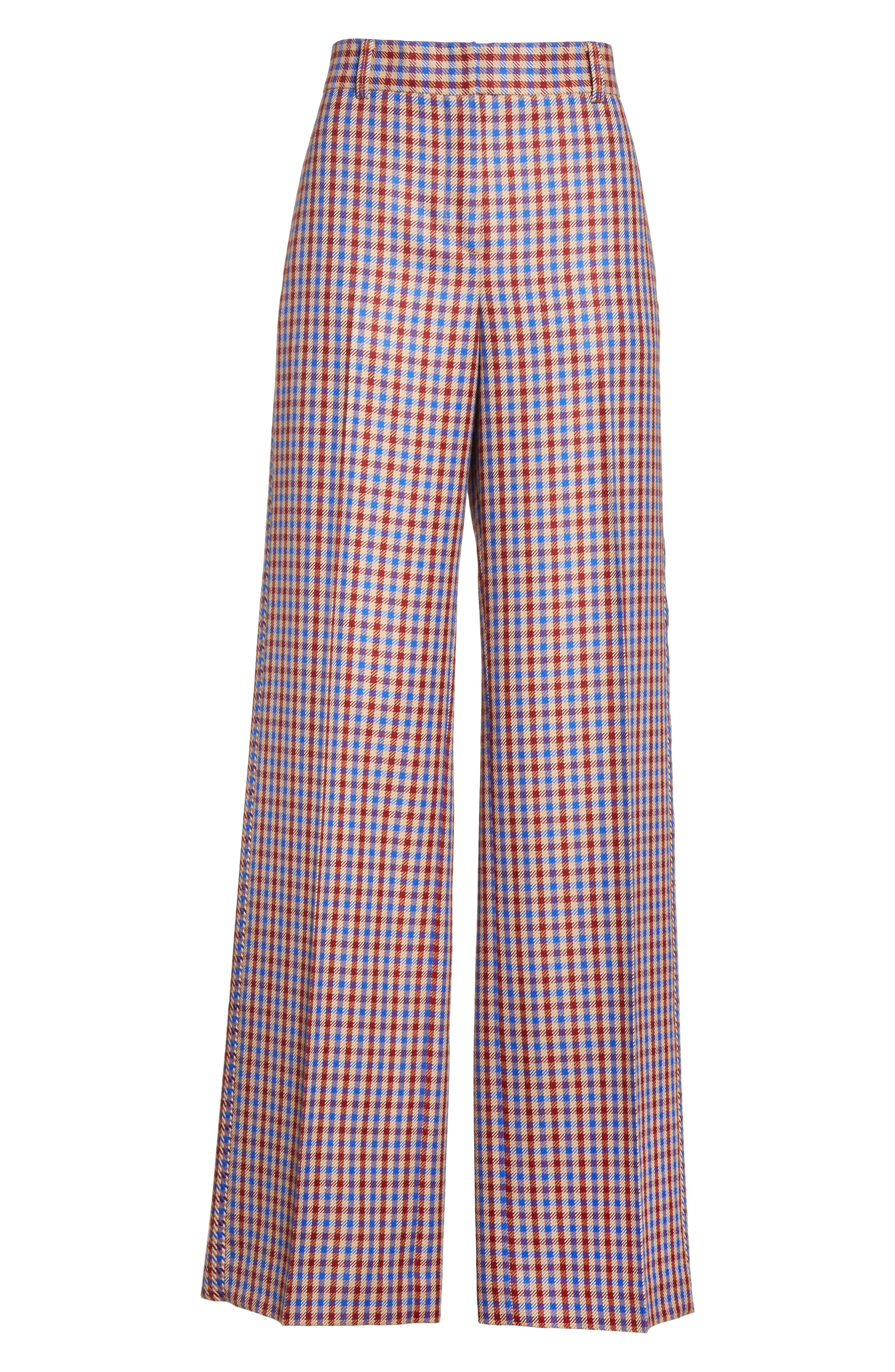 Alternate Image 6  - Tory Burch Ainsley Plaid Wide Leg Trousers