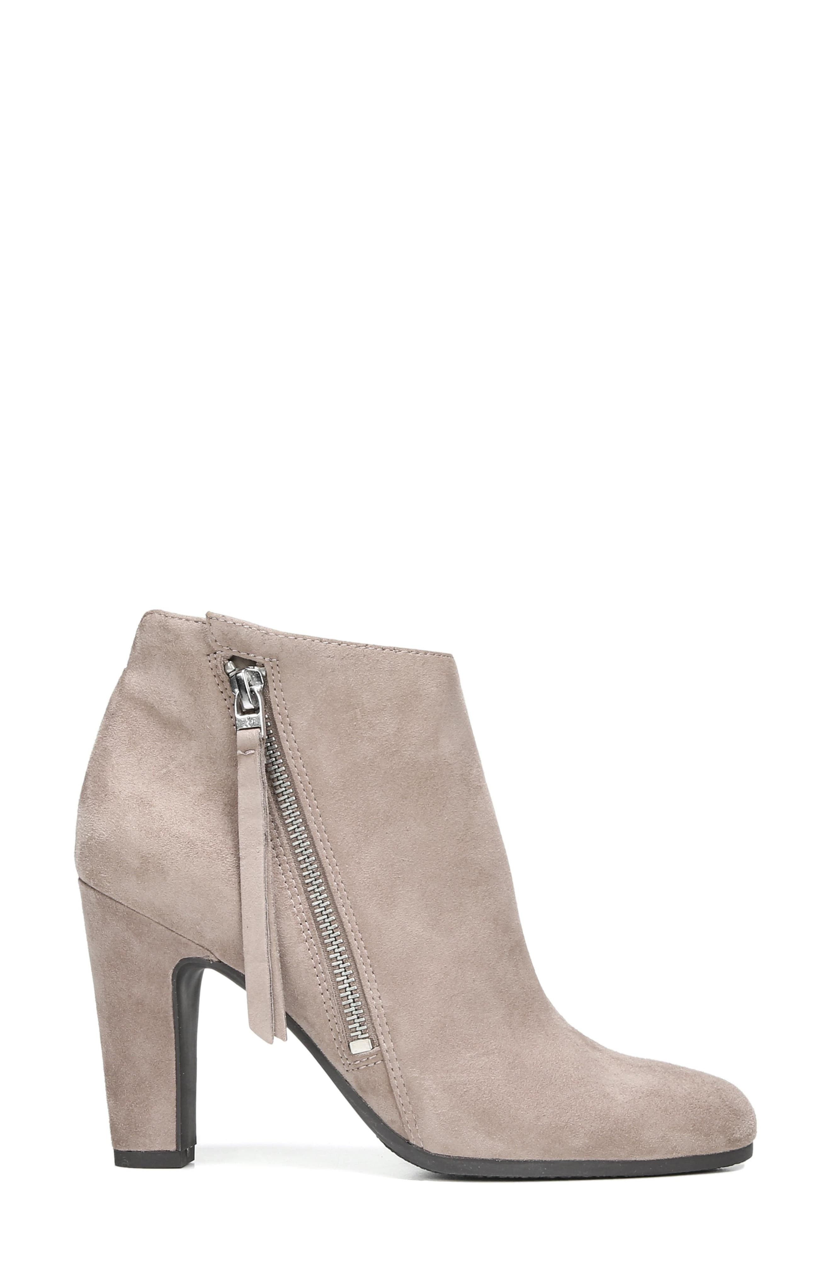 Sadee Angle Zip Bootie,                             Alternate thumbnail 3, color,                             New Putty Suede