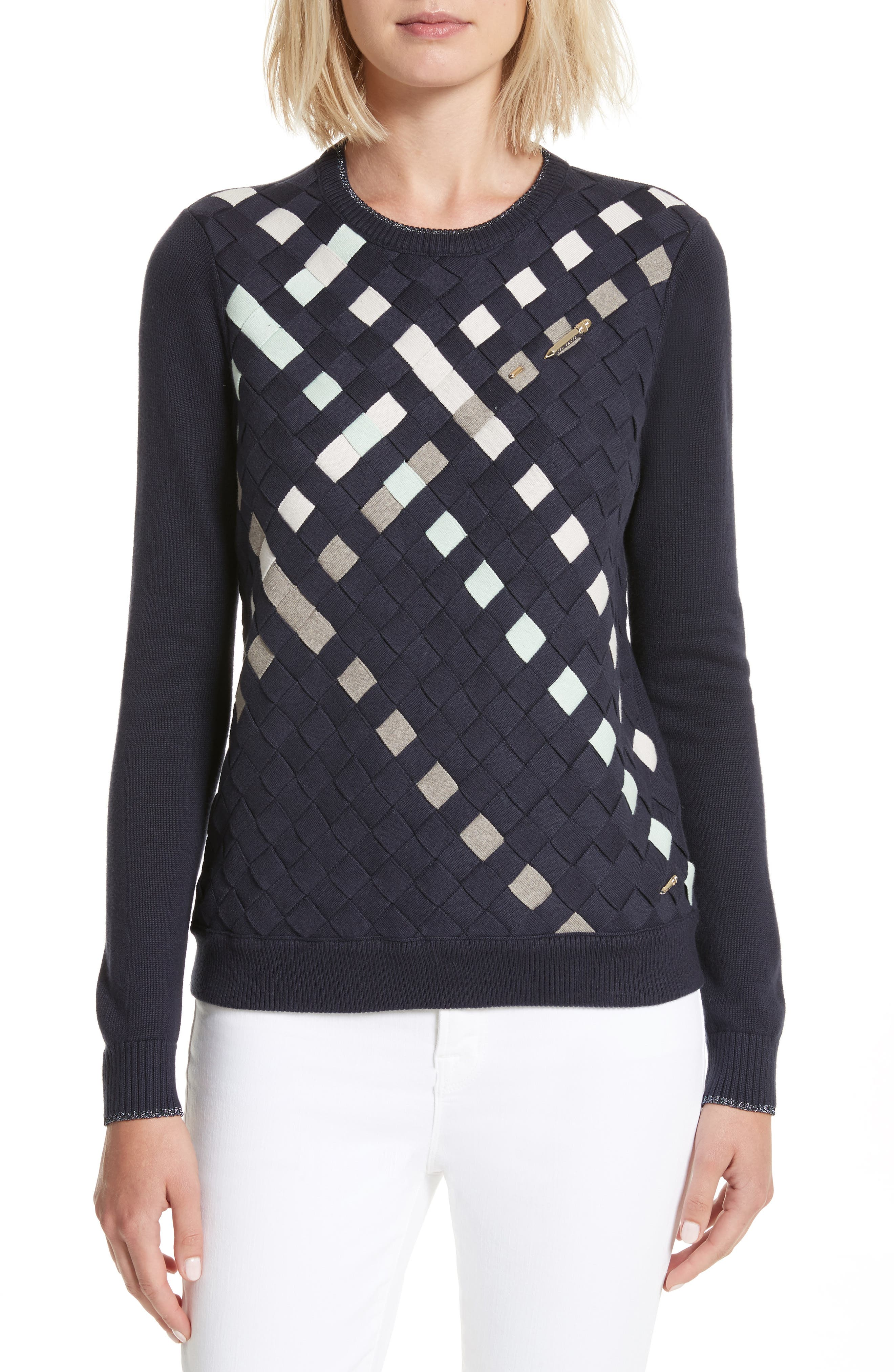 Ted Baker London Yessica Lattice Front Sweater