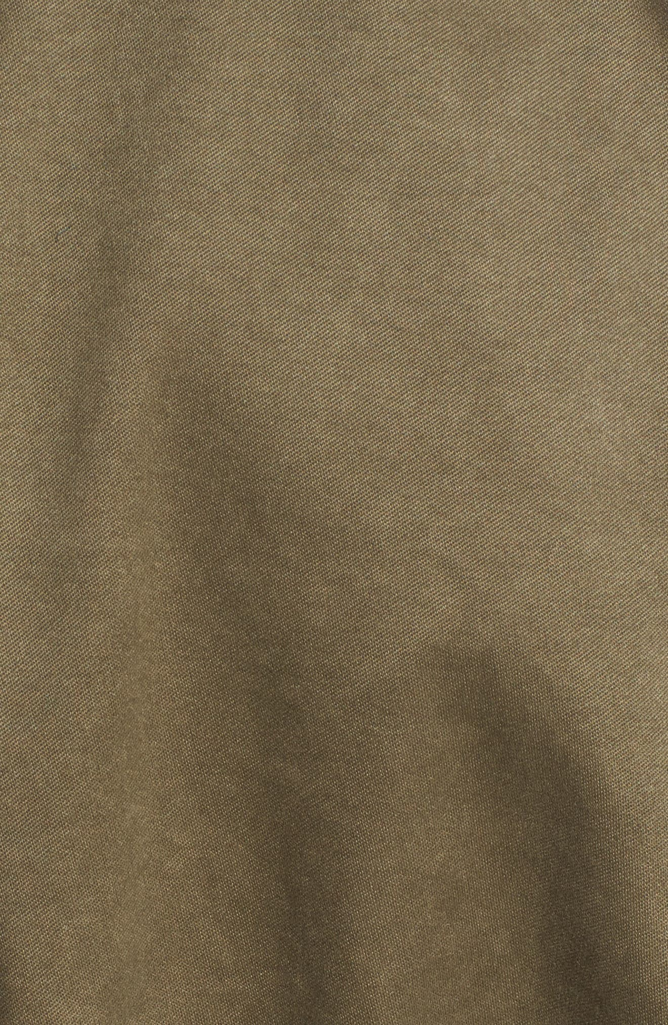 Waxed Cotton Field Jacket,                             Alternate thumbnail 5, color,                             Olive Grove