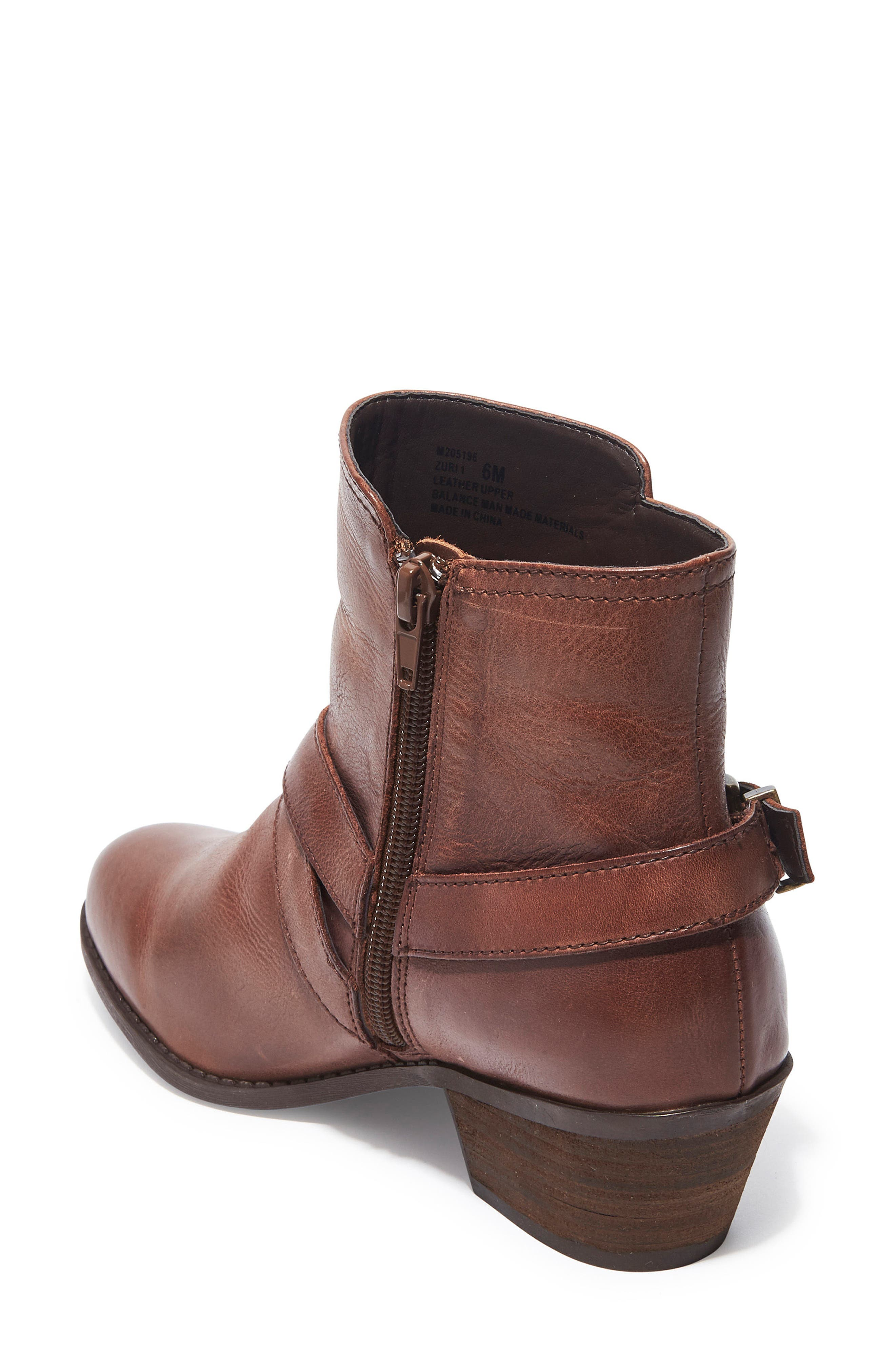 Zuri Buckle Boot,                             Alternate thumbnail 2, color,                             Chocolate Leather