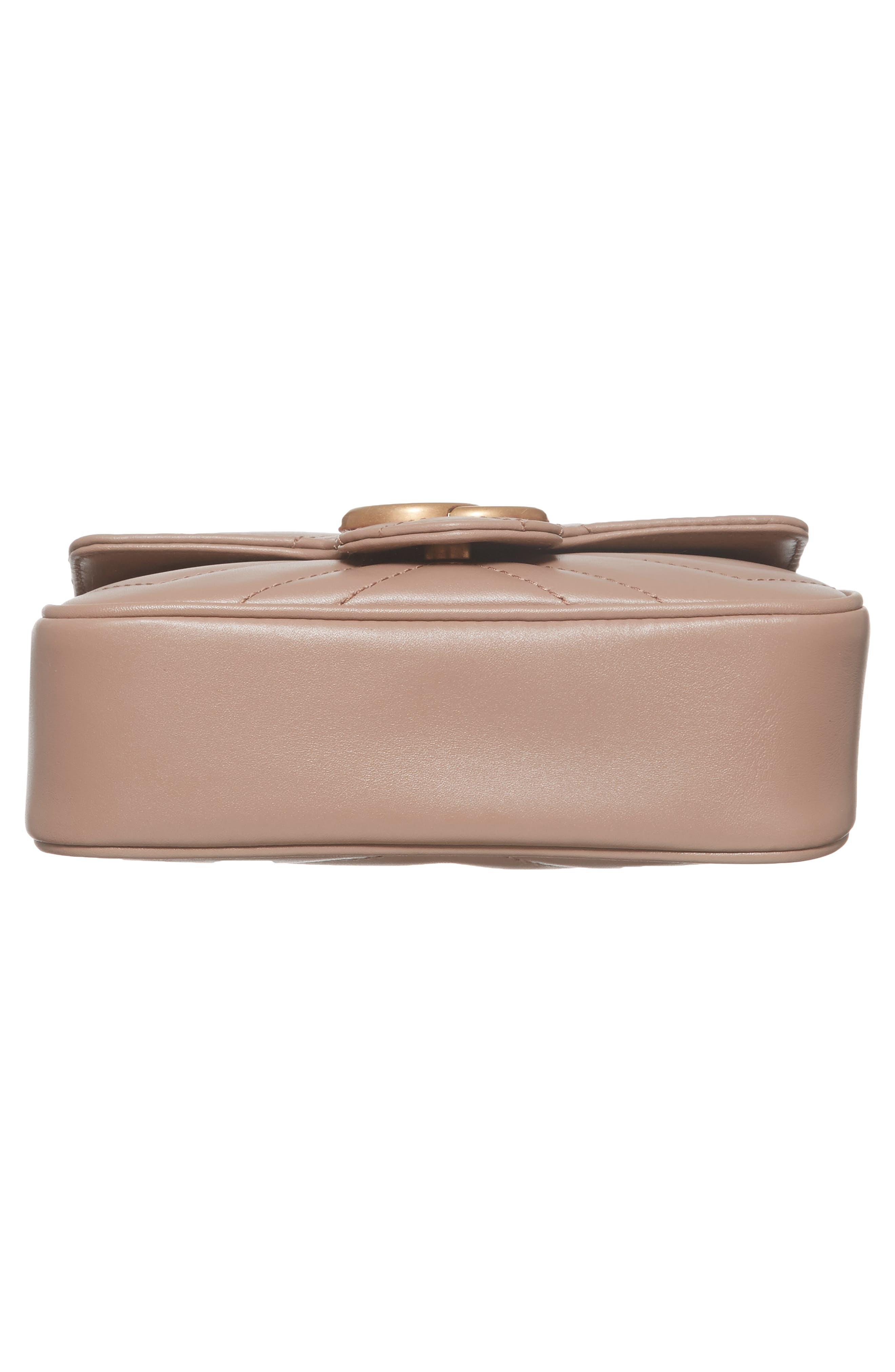 Alternate Image 4  - Gucci Supermini GG Marmont 2.0 Matelassé Leather Shoulder Bag