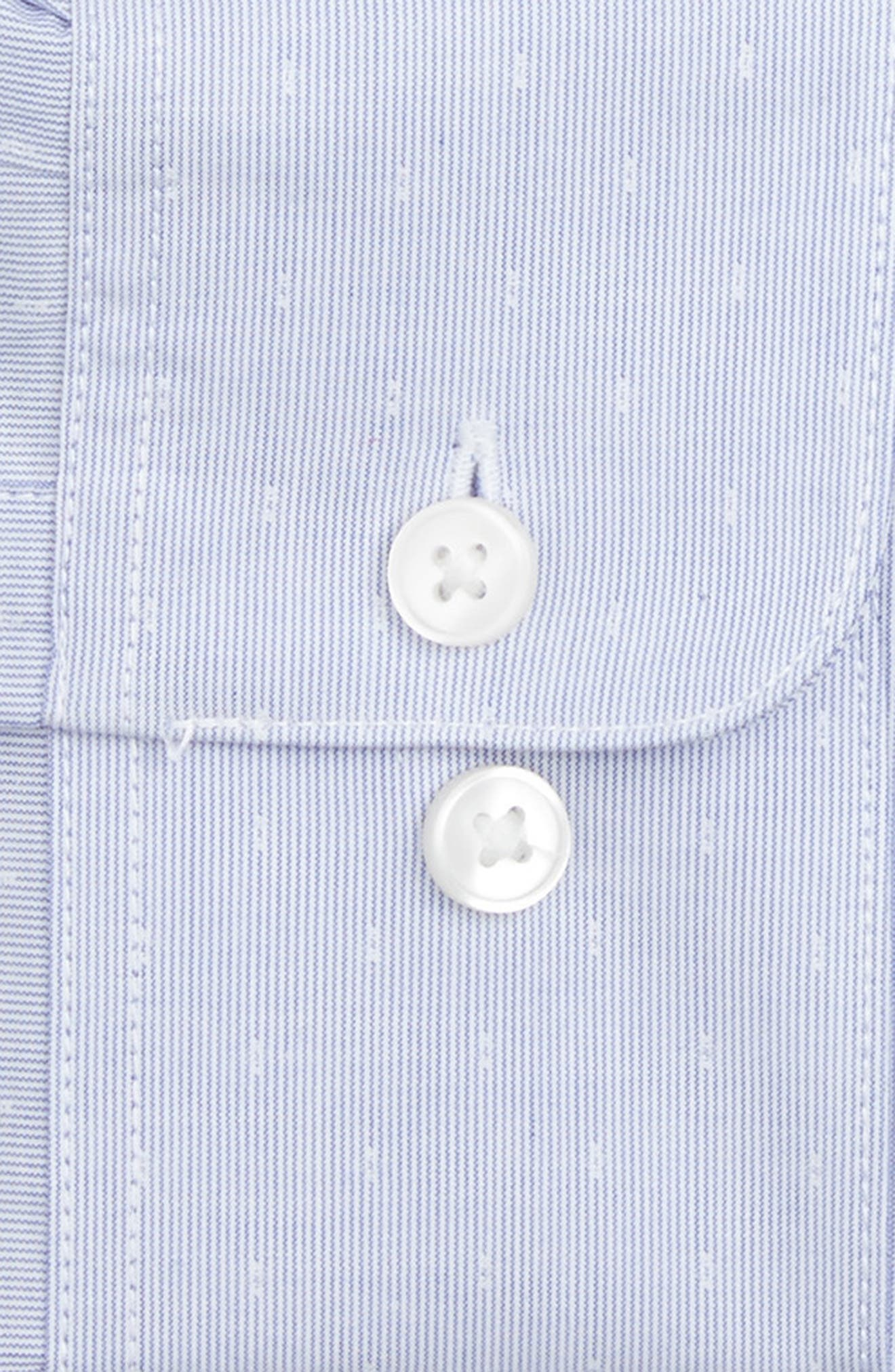 Slim Fit Stretch Stripe Dress Shirt,                             Alternate thumbnail 2, color,                             Cornflower