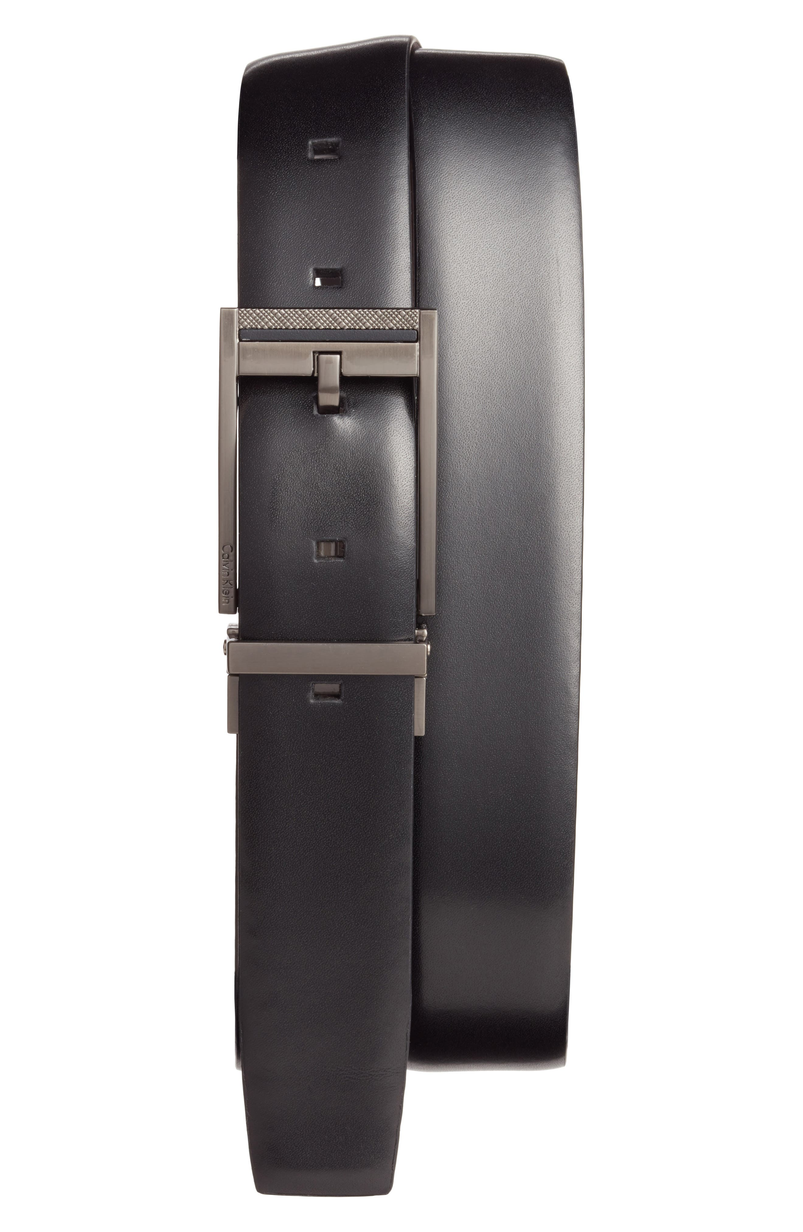 Alternate Image 1 Selected - Calvin Klein Reversible Leather Belt