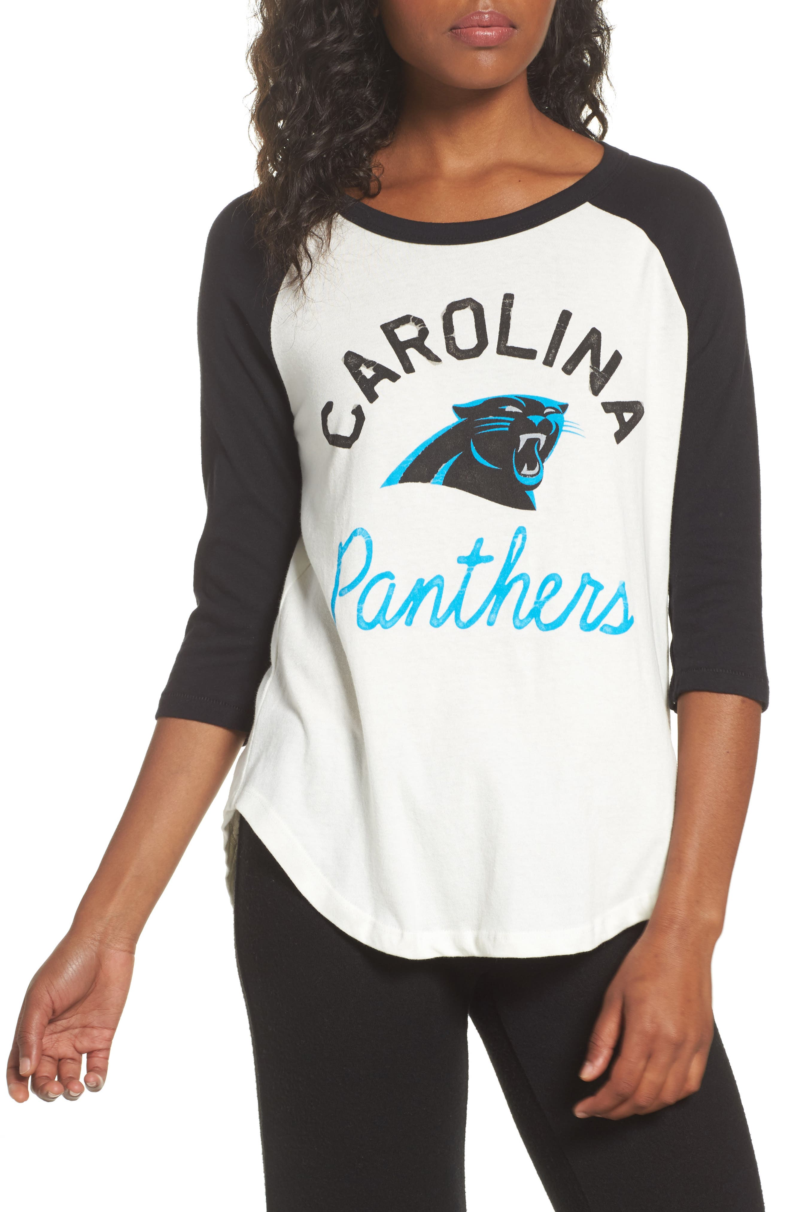Main Image - Junk Food NFL Carolina Panthers Raglan Tee