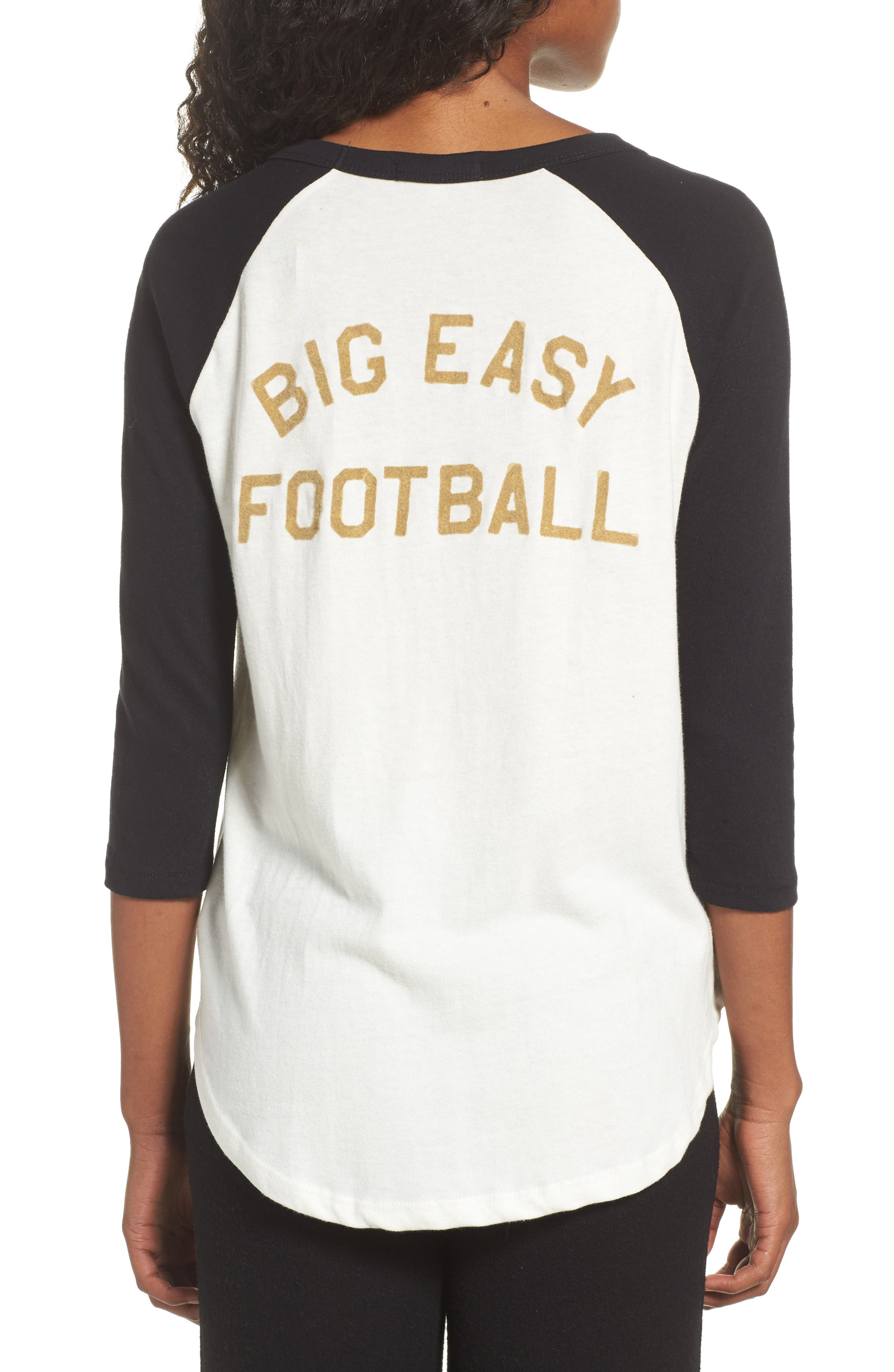 Alternate Image 2  - Junk Food NFL New Orleans Saints Raglan Tee
