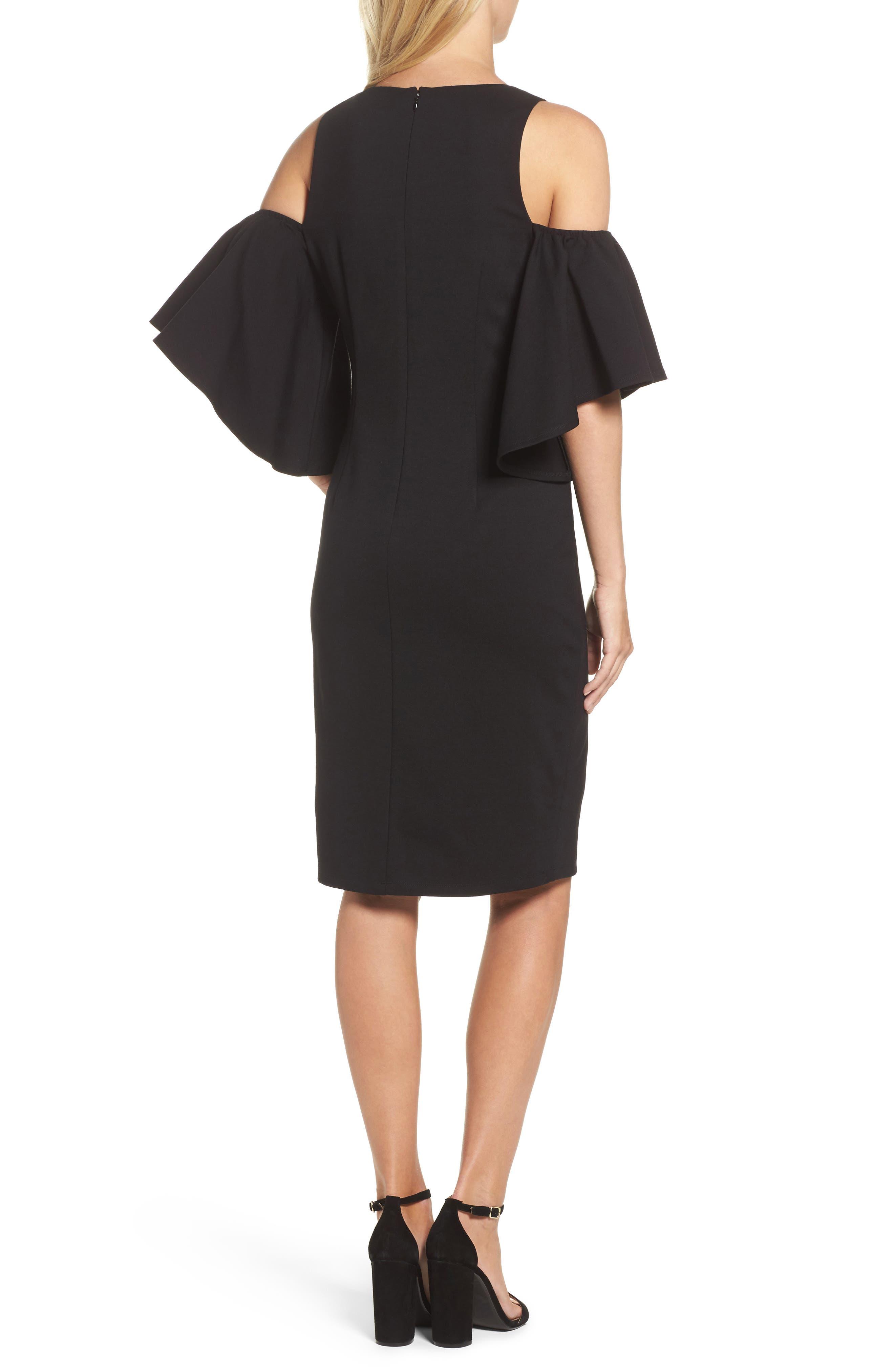 Alternate Image 2  - Eliza J Cold Shoulder Sheath Dress
