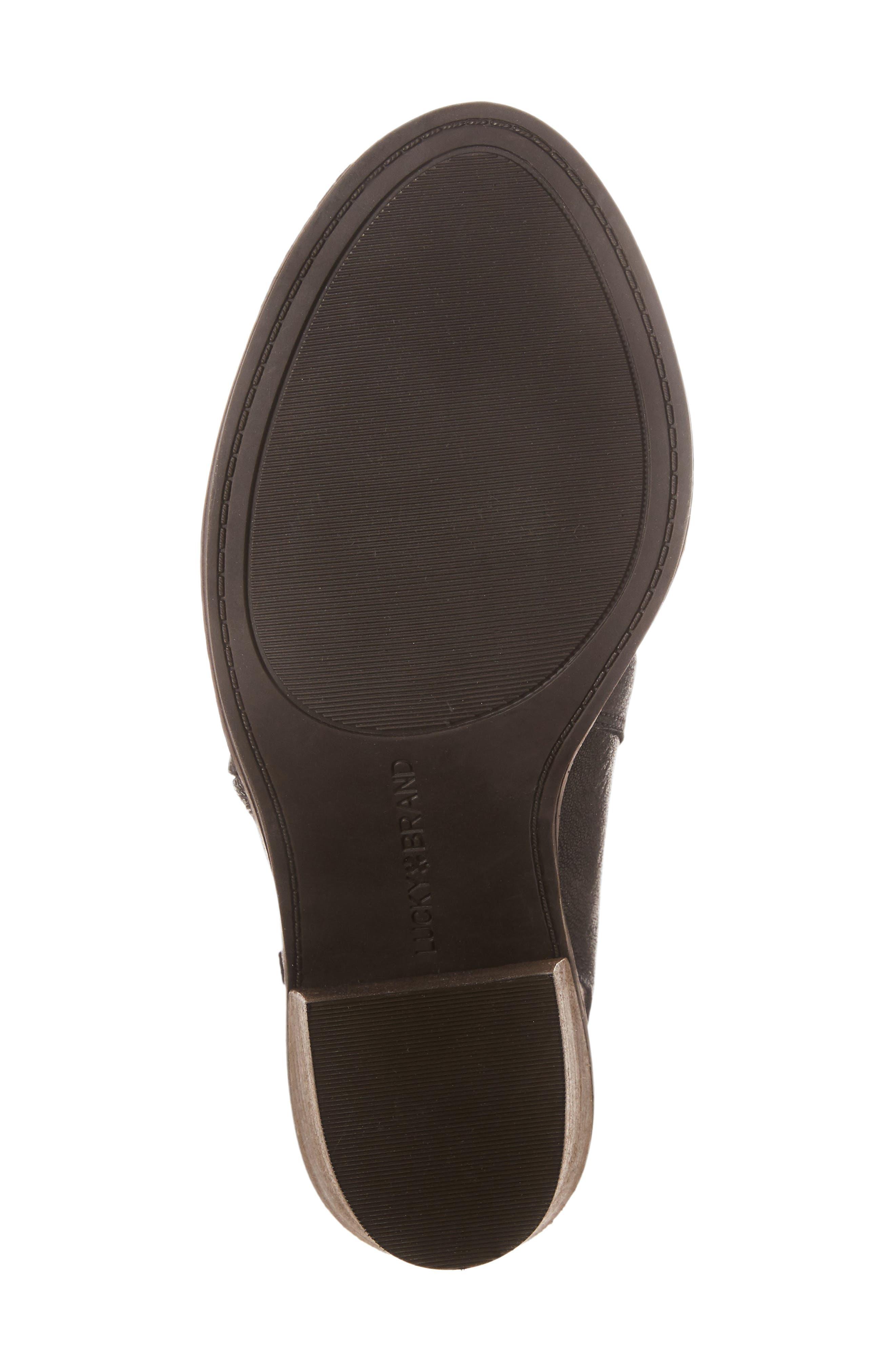 Terrie Peep Toe Bootie,                             Alternate thumbnail 4, color,                             Black Leather