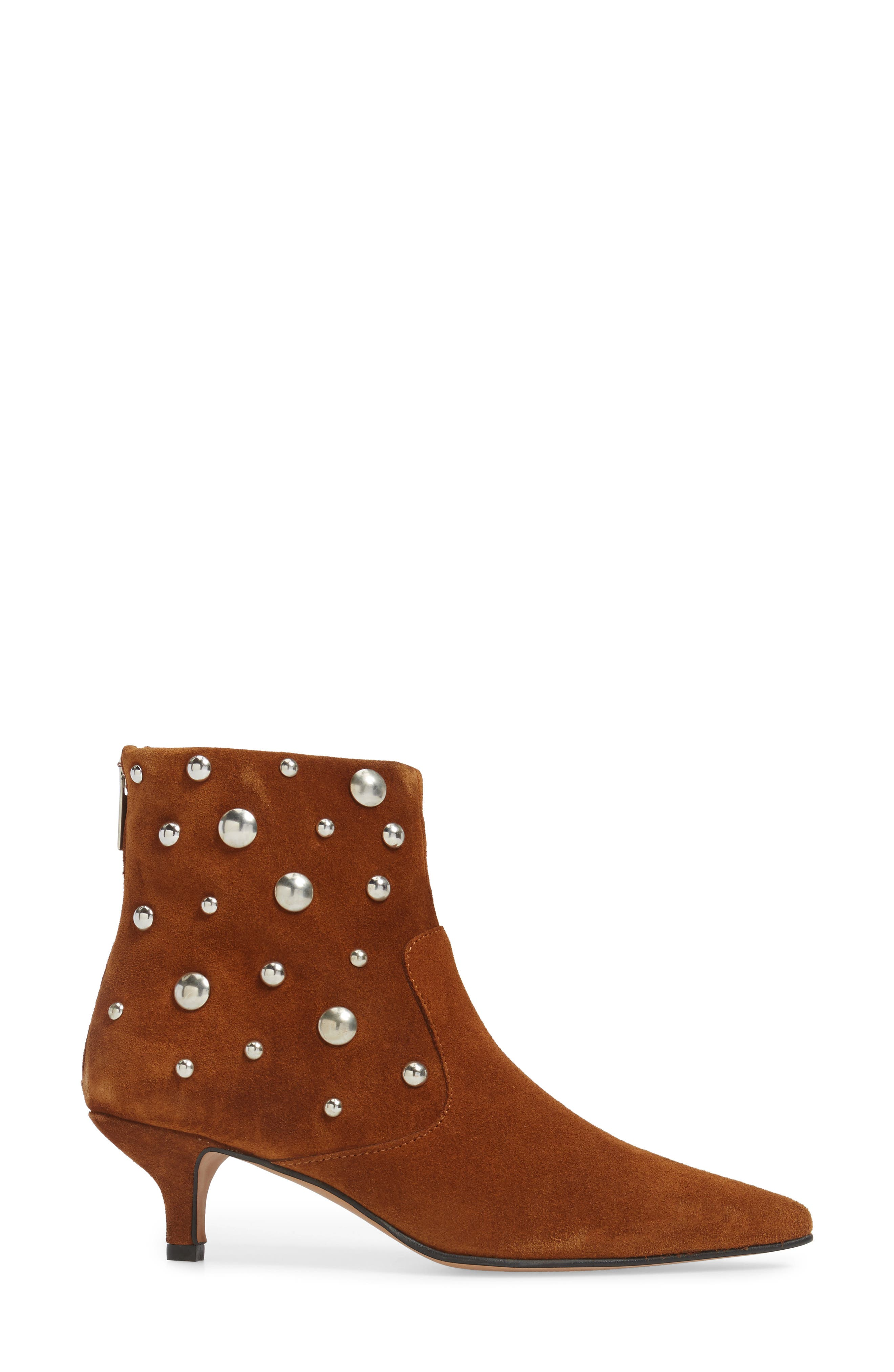 Alternate Image 3  - Topshop Ascot Studded Pointy Toe Bootie (Women)