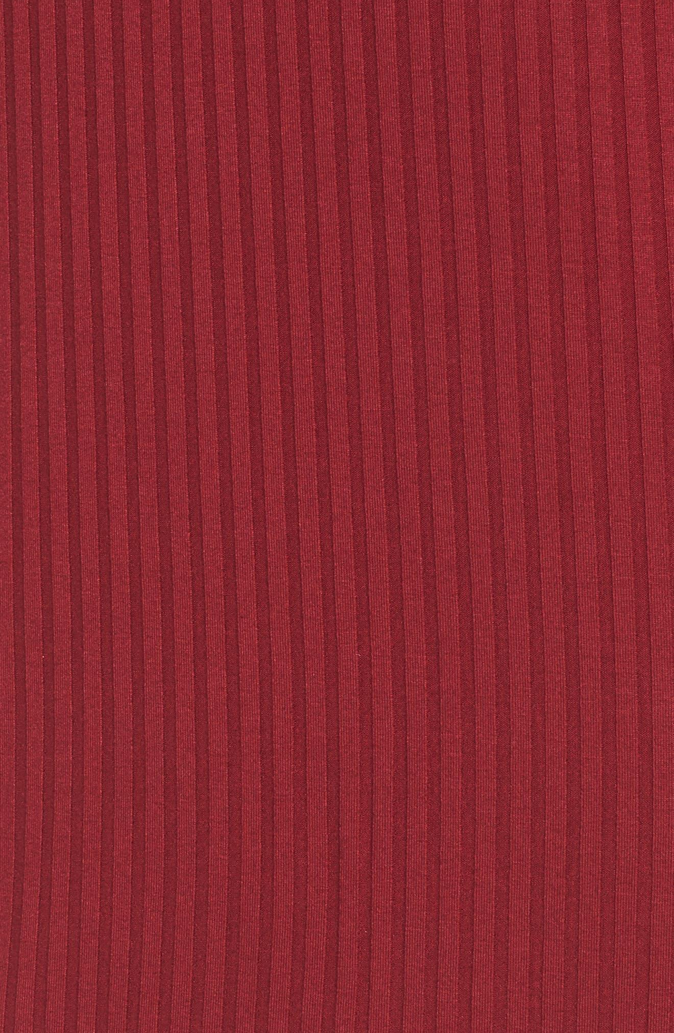 Alternate Image 5  - One Clothing Off the Shoulder Rib Knit Dress
