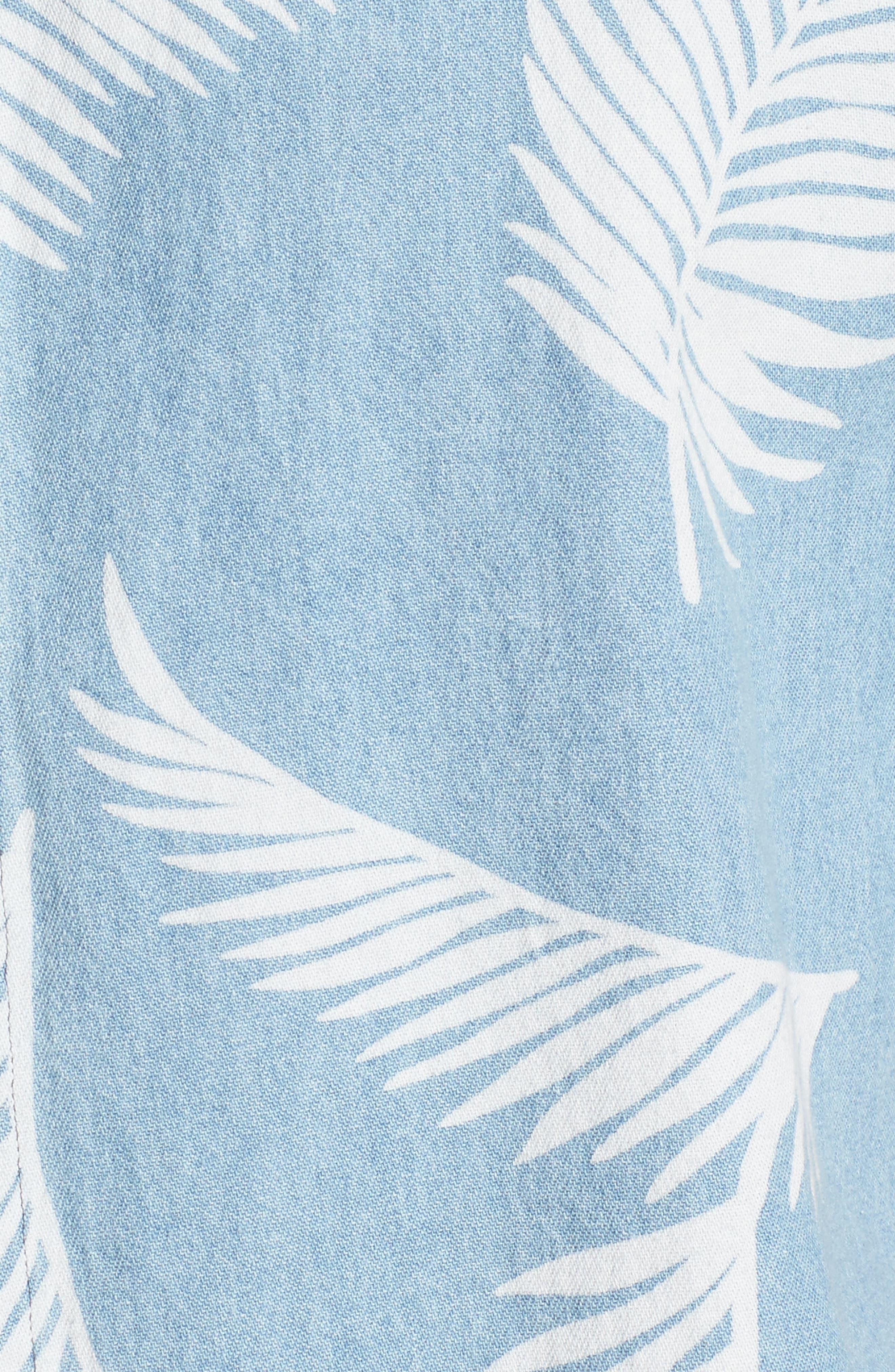 Bahamas Shirt,                             Alternate thumbnail 5, color,                             Indigo/ Floral