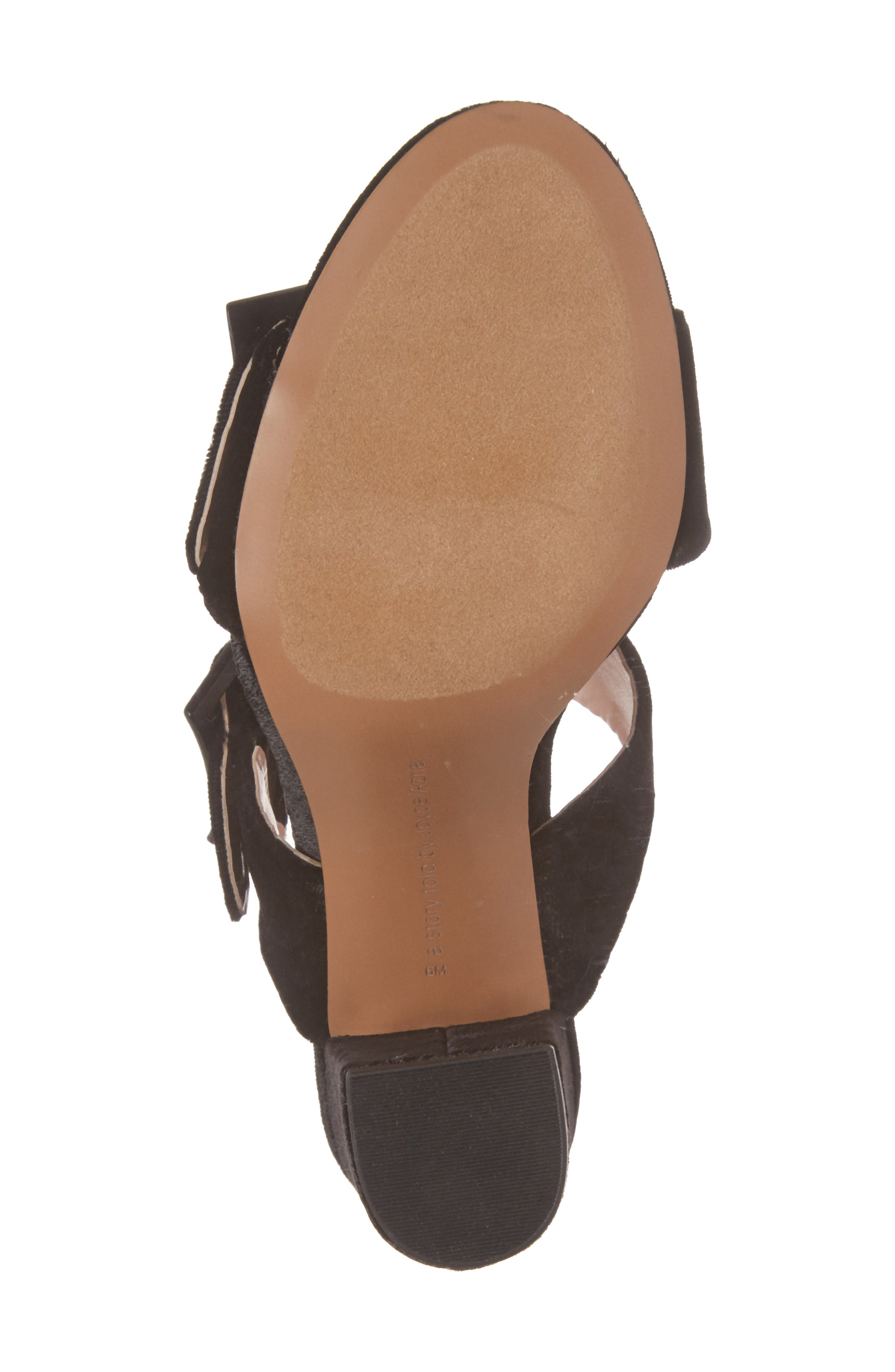 Millie Buckle Strap Sandal,                             Alternate thumbnail 6, color,                             Black Fabric