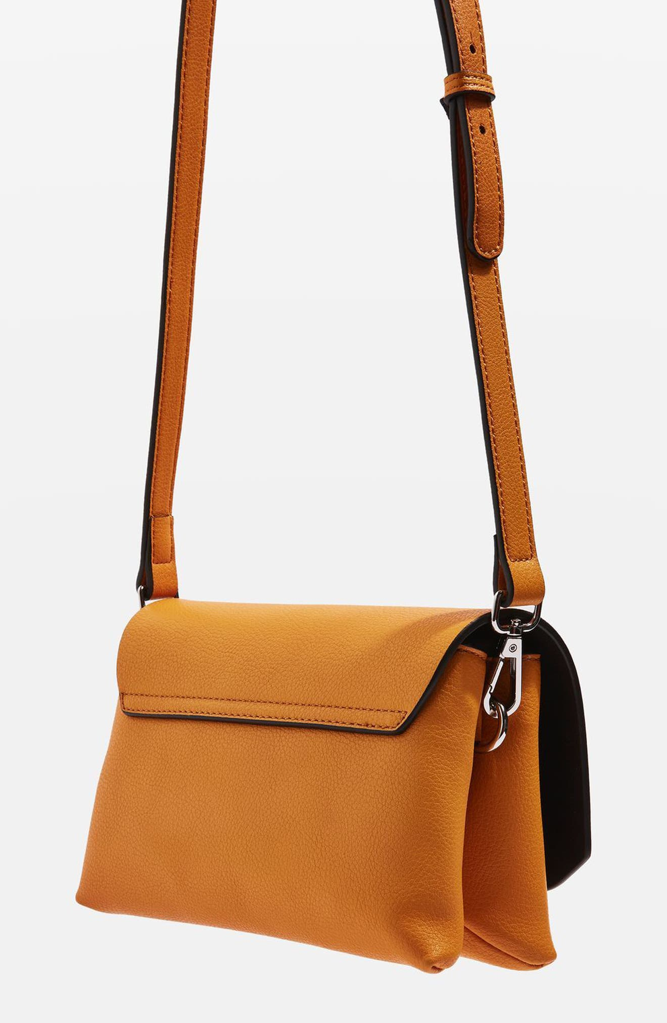 Alternate Image 3  - Topshop Otley Faux Leather Crossbody Bag