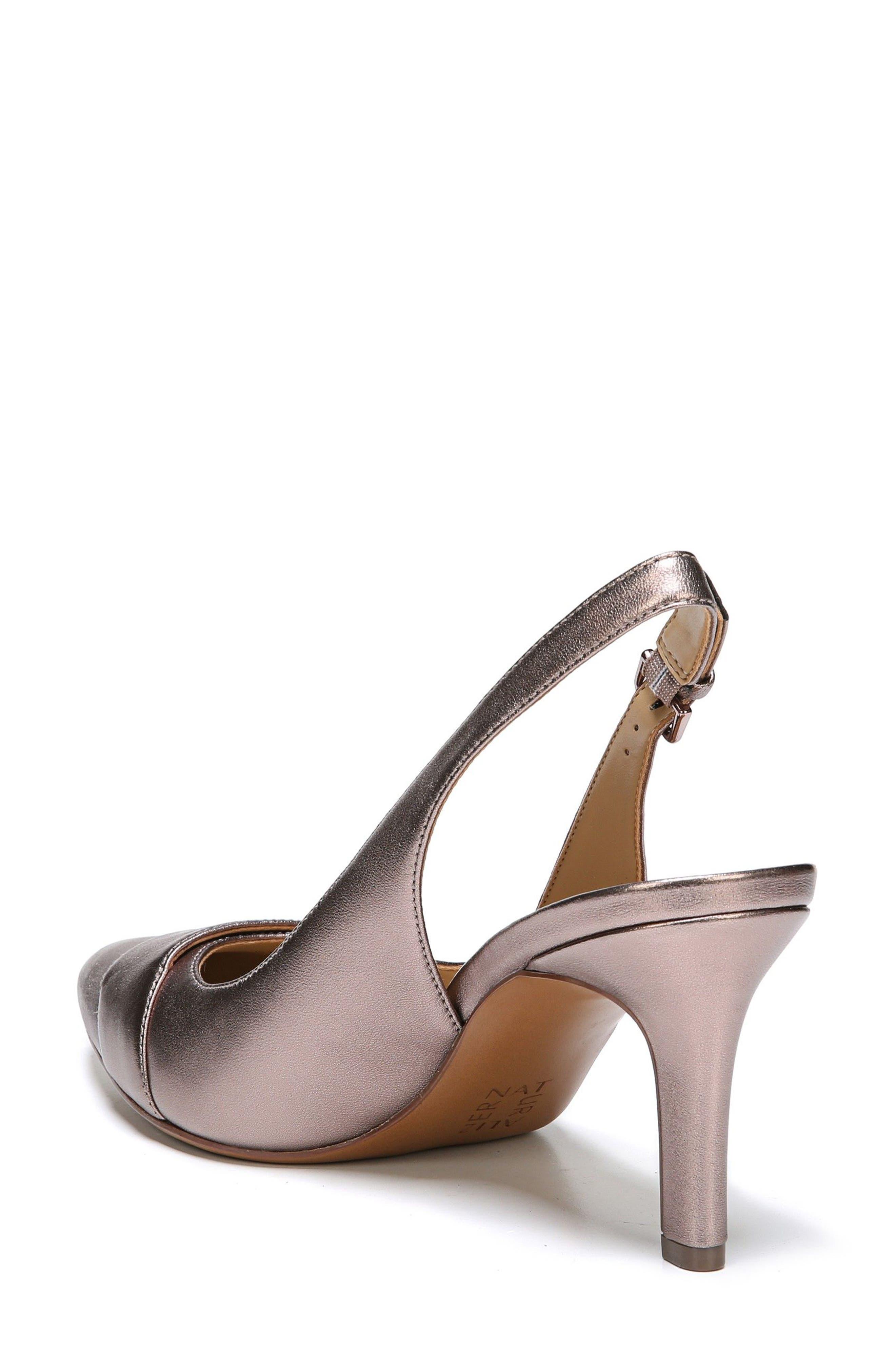 Nicolette Slingback Pump,                             Alternate thumbnail 2, color,                             Bronze Alloy Metallic Leather