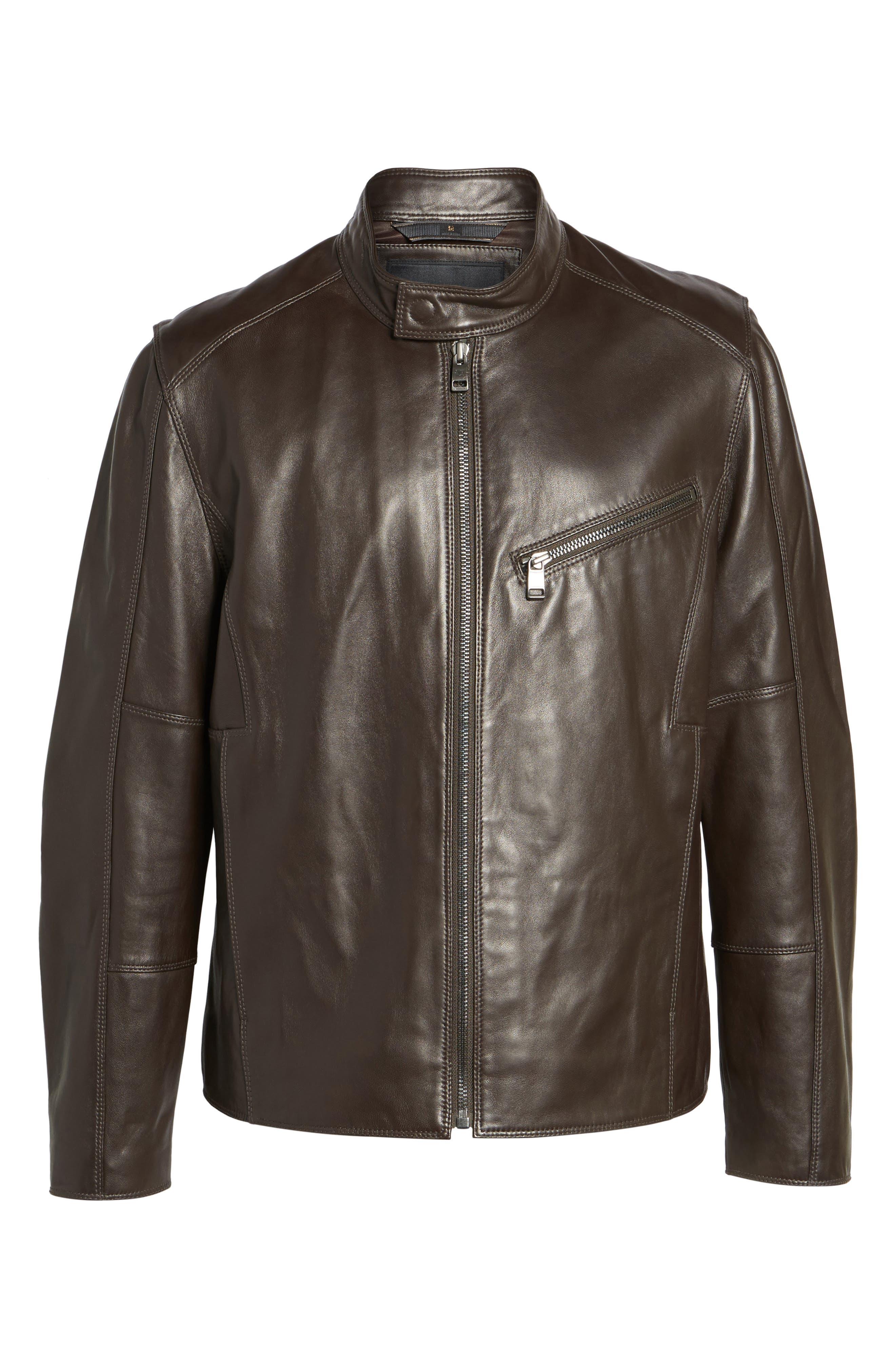 Alternate Image 5  - Andrew Marc Gibson Slim Leather Moto Jacket