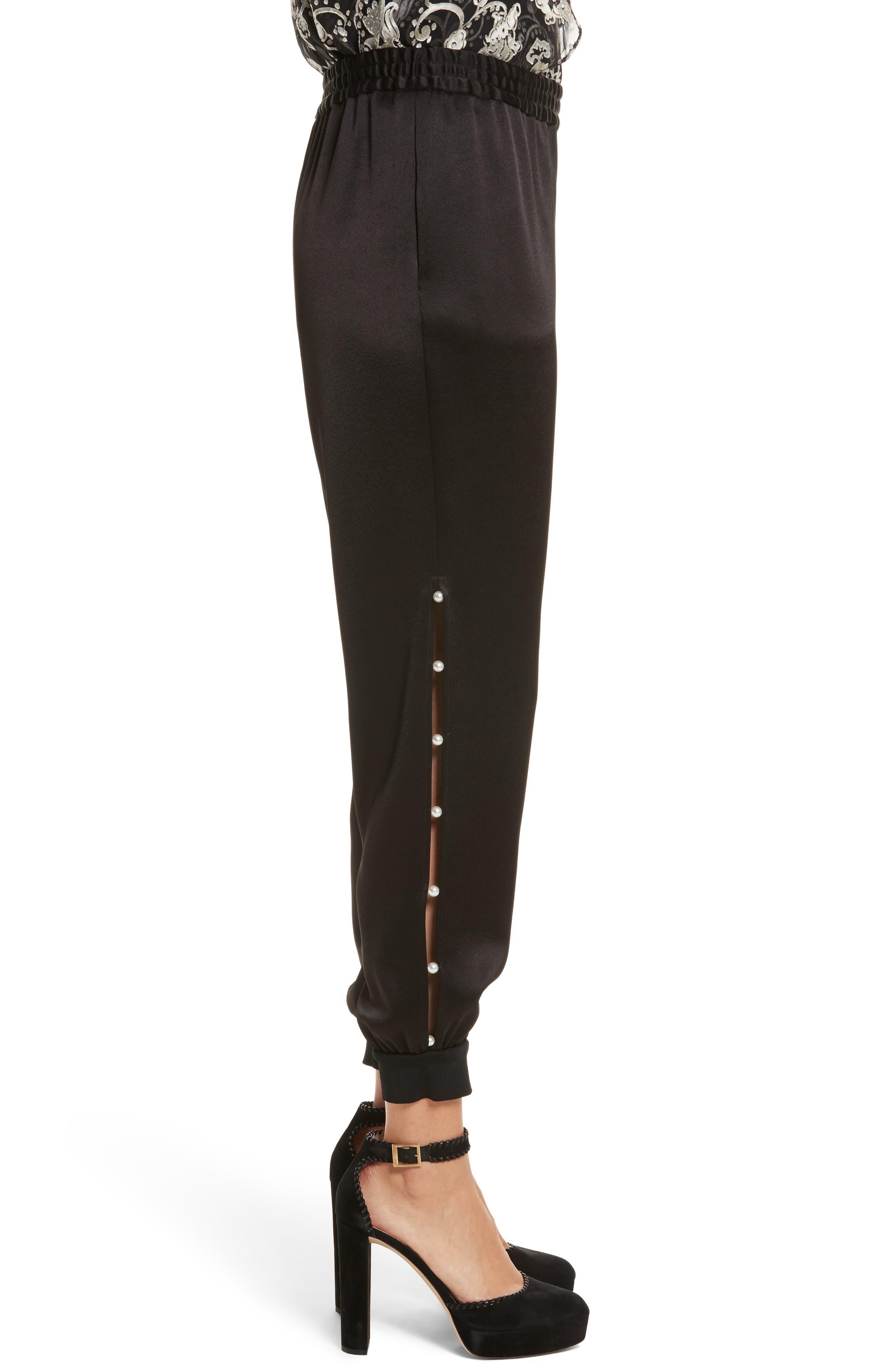 Alternate Image 3  - Alice + Olivia Pete Embellished Side Jogger Pants
