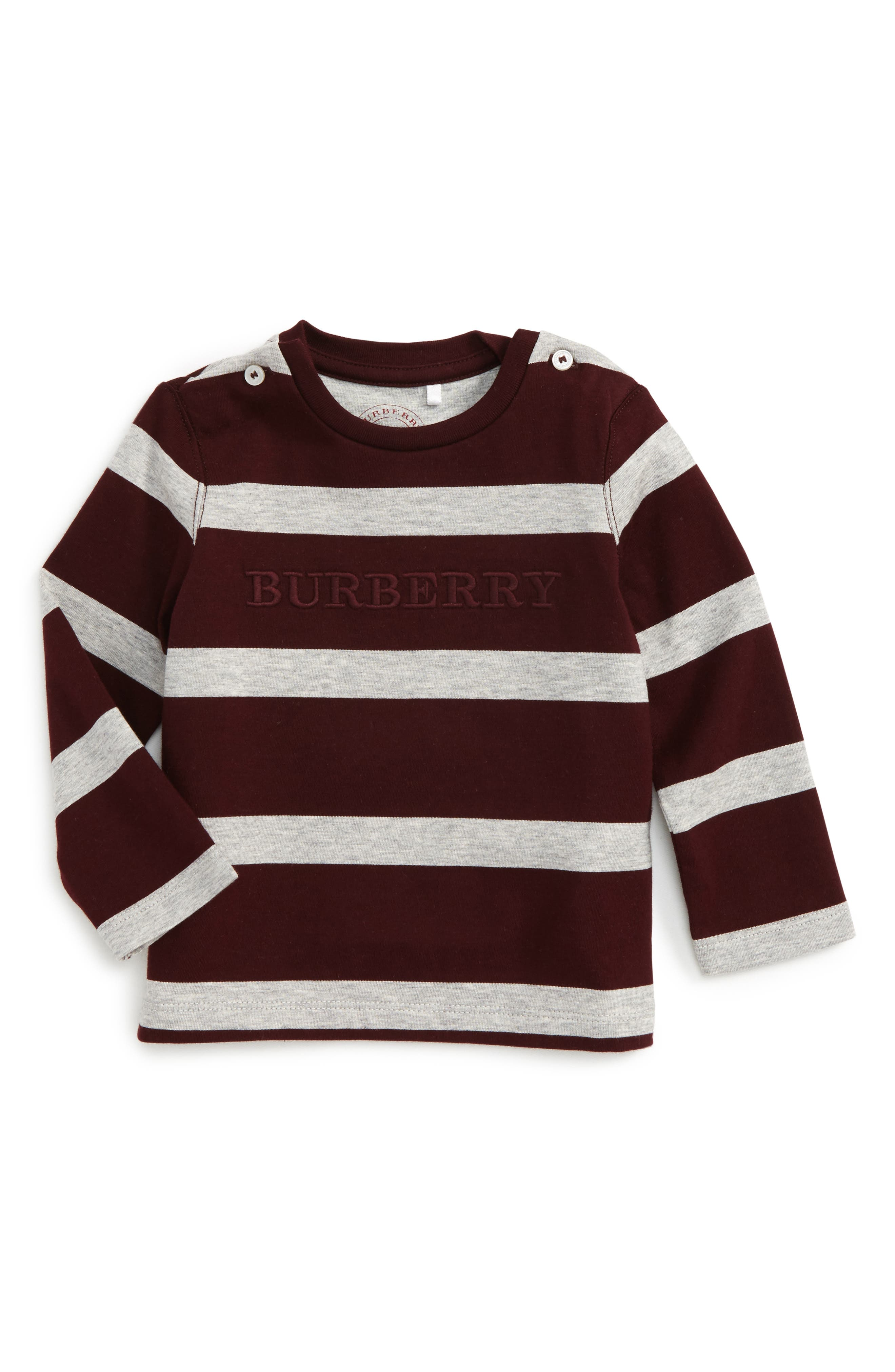 Alternate Image 1 Selected - Burberry Mathew Stripe T-Shirt (Baby Boys)