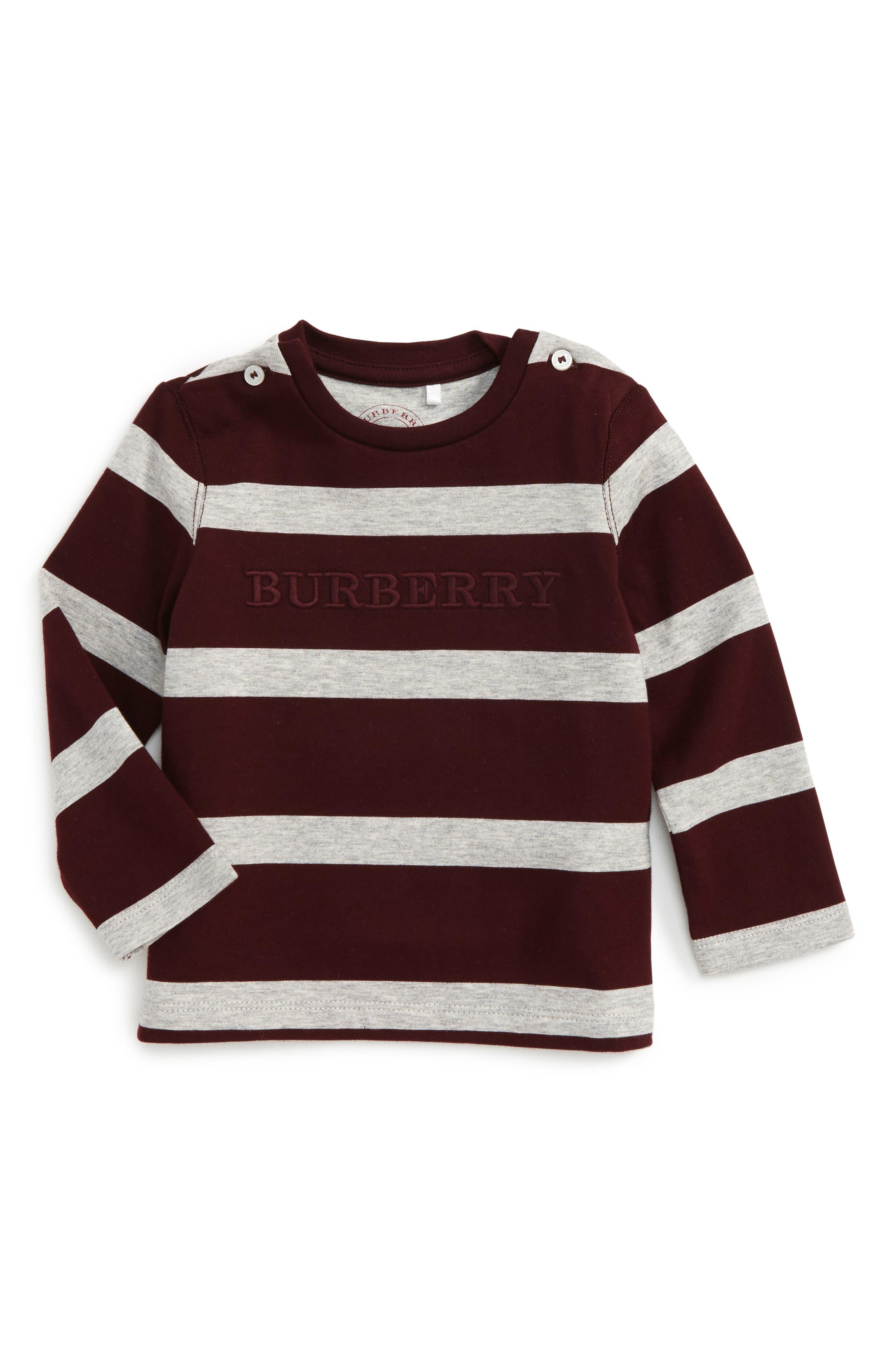 Mathew Stripe T-Shirt,                         Main,                         color, Burgundy/ Grey Melange