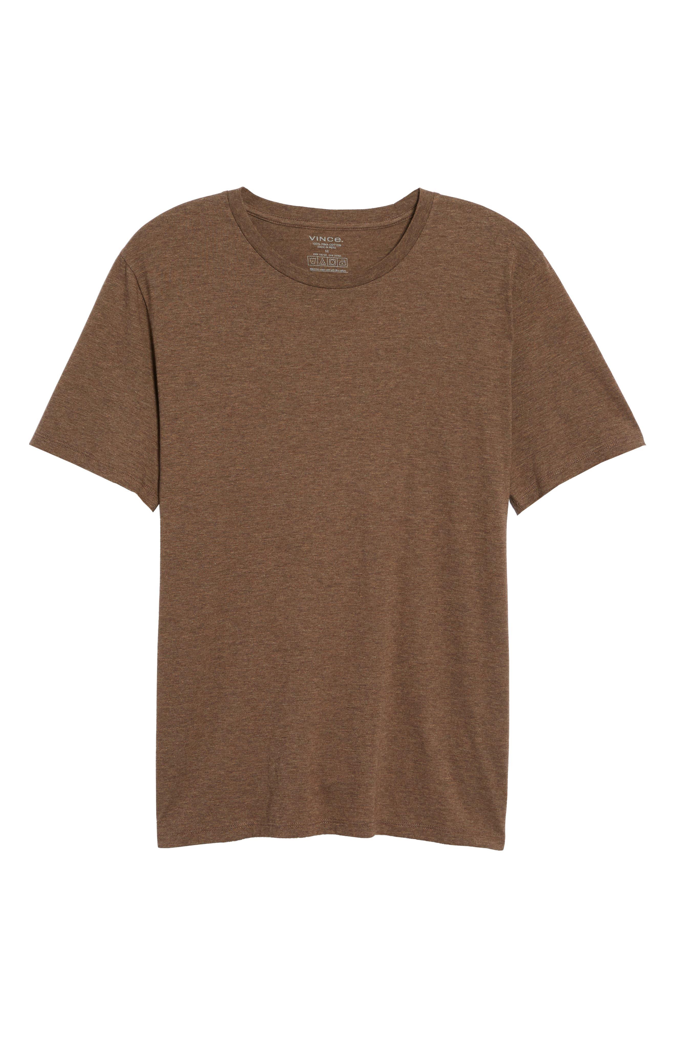Regular Fit Crewneck T-Shirt,                             Alternate thumbnail 5, color,                             Bark