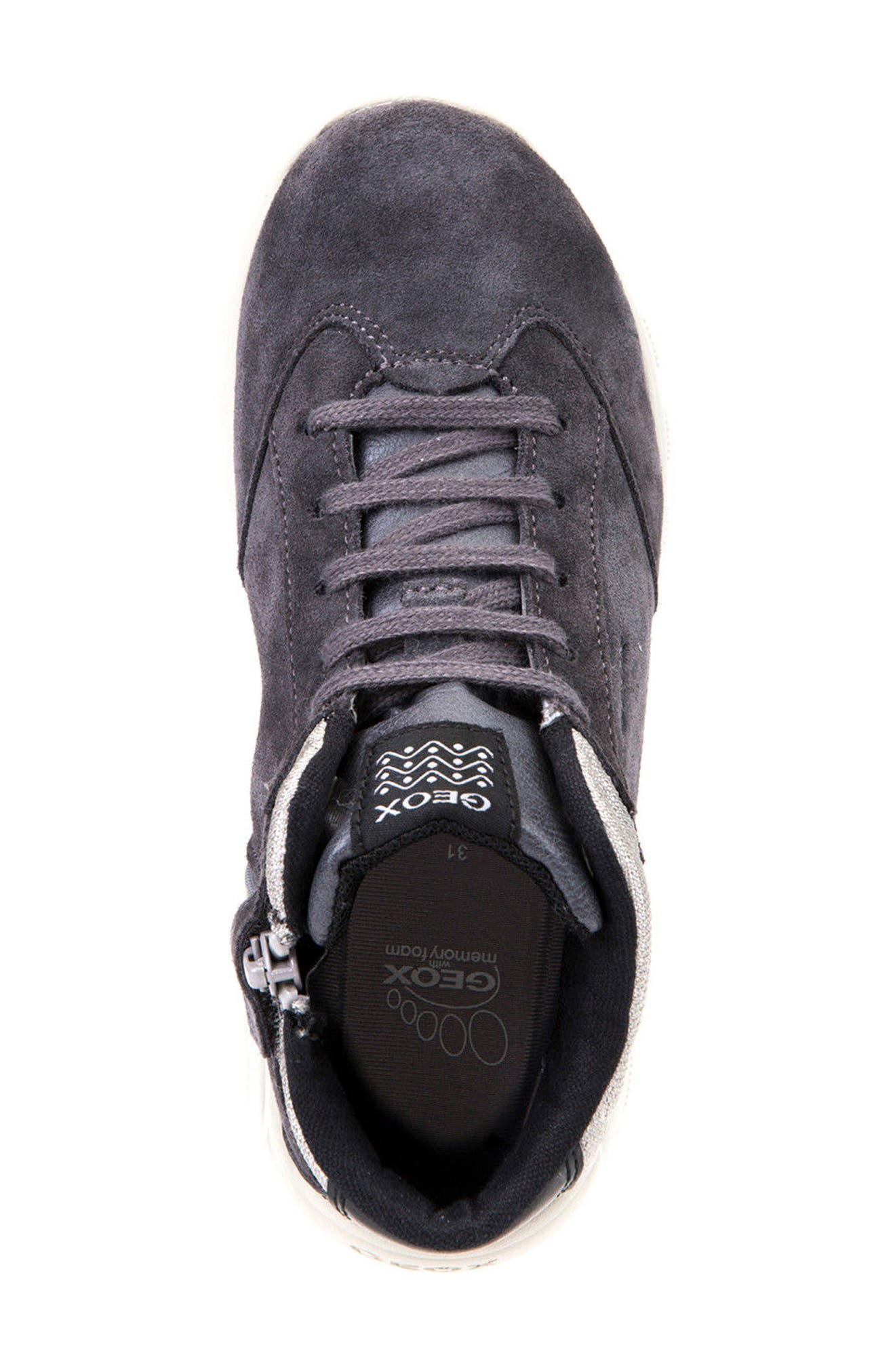 Xunday Mid Top Sneaker,                             Alternate thumbnail 5, color,                             Grey/ Light Grey