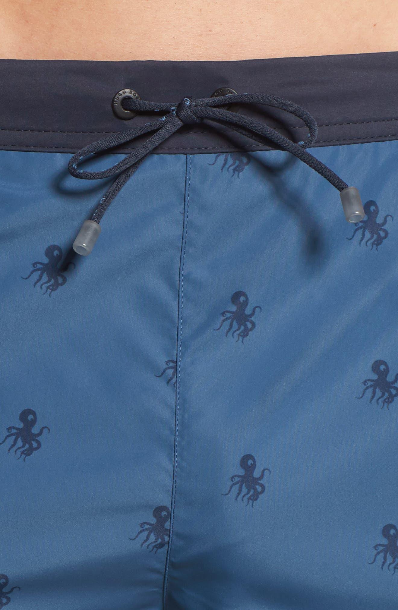 Ropefish Print Swim Trunks,                             Alternate thumbnail 9, color,                             Blue