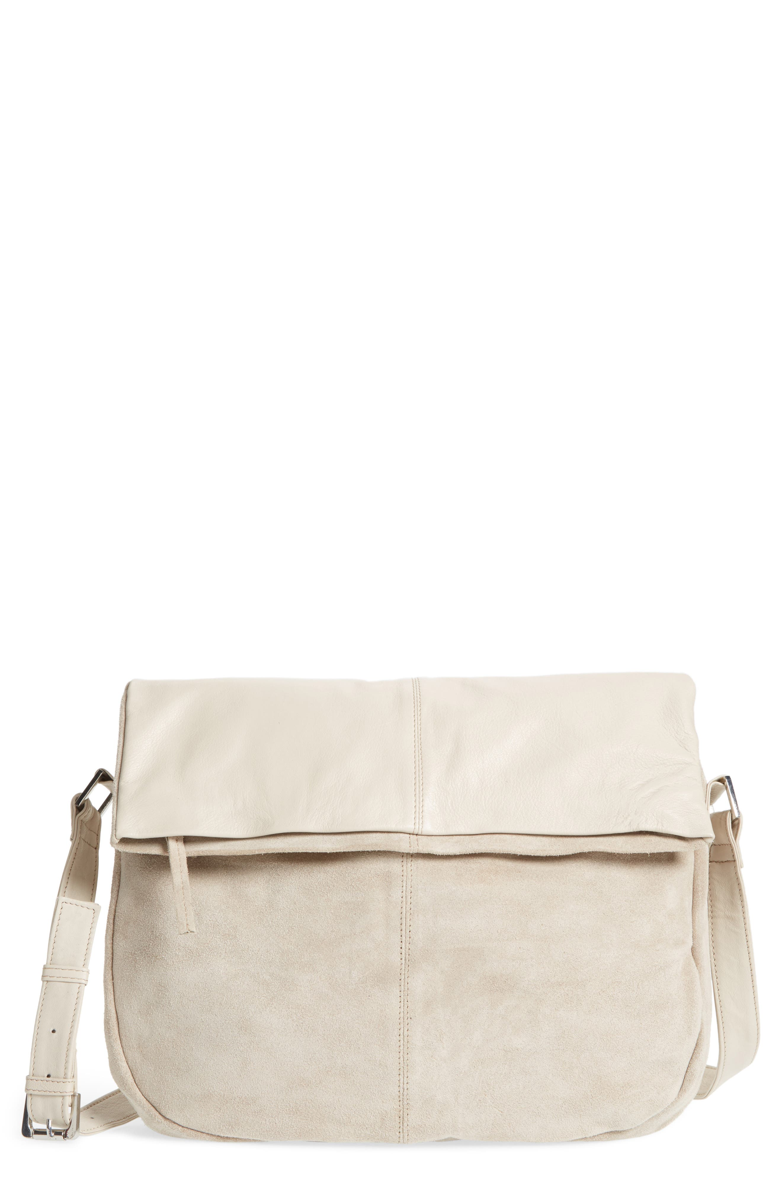 TOPSHOP Sam Leather & Suede Shoulder Bag