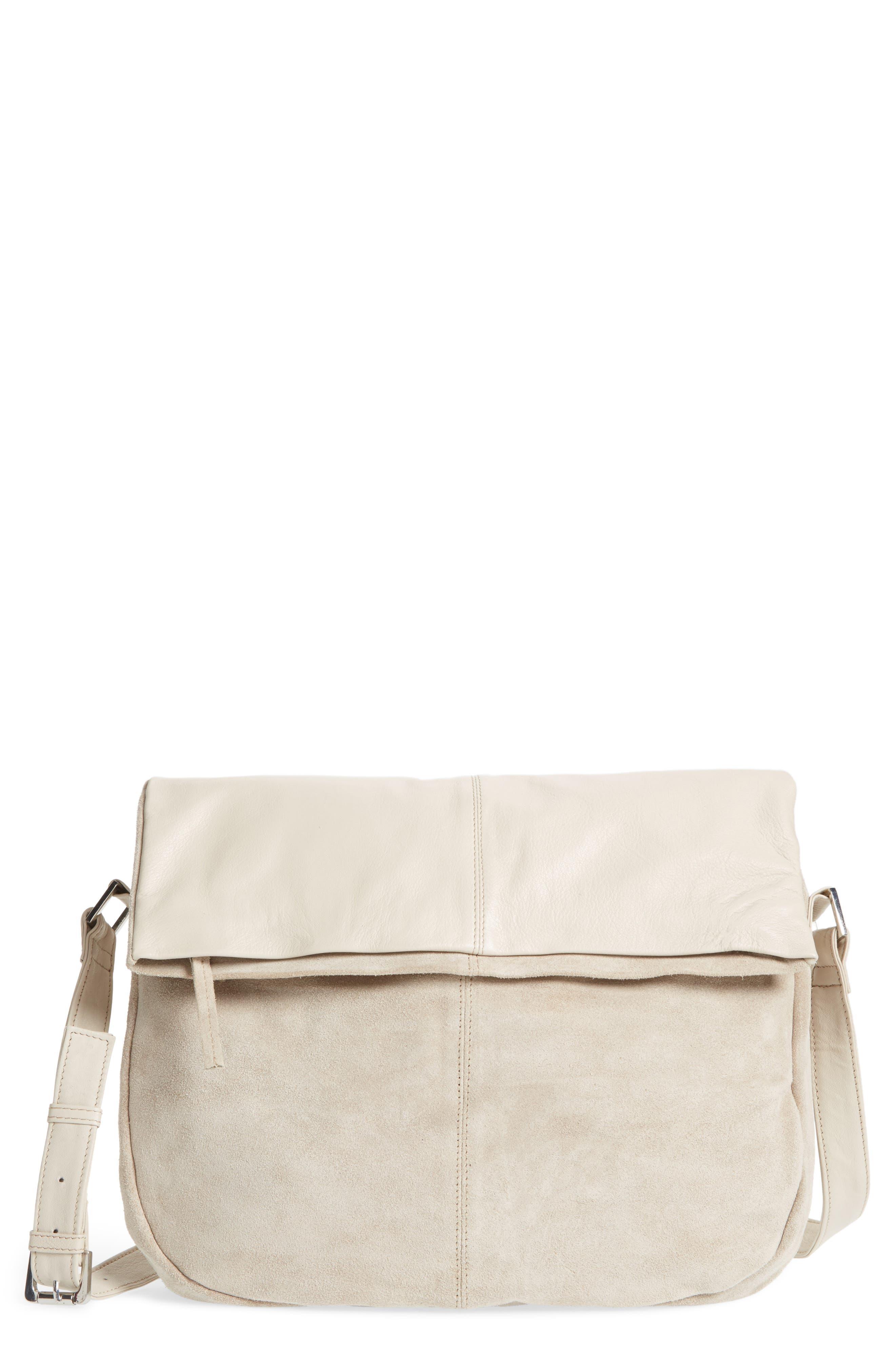 Topshop Sam Leather & Suede Shoulder Bag