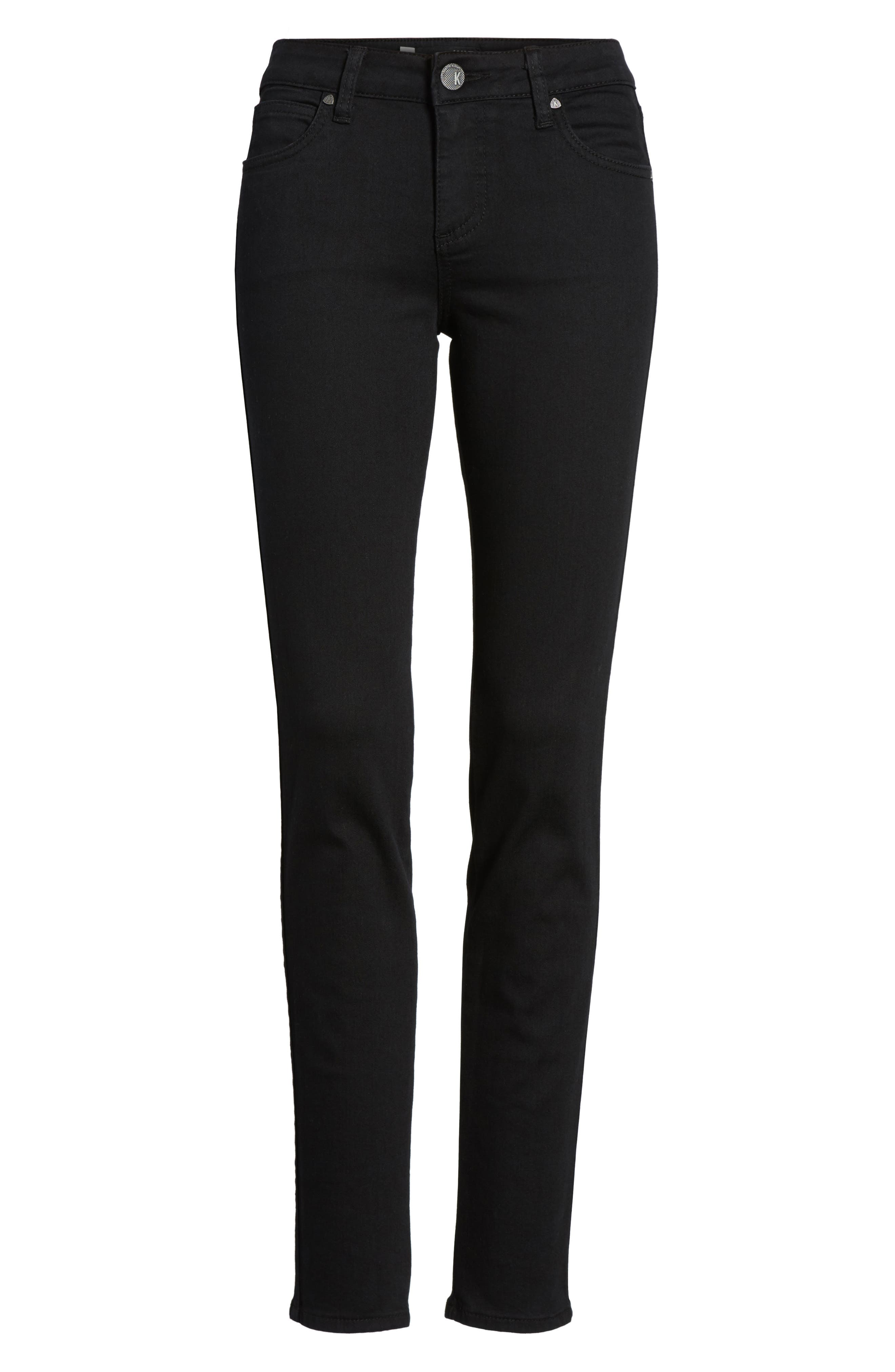 Diana Curvy Fit Skinny Jeans,                             Alternate thumbnail 6, color,                             Black