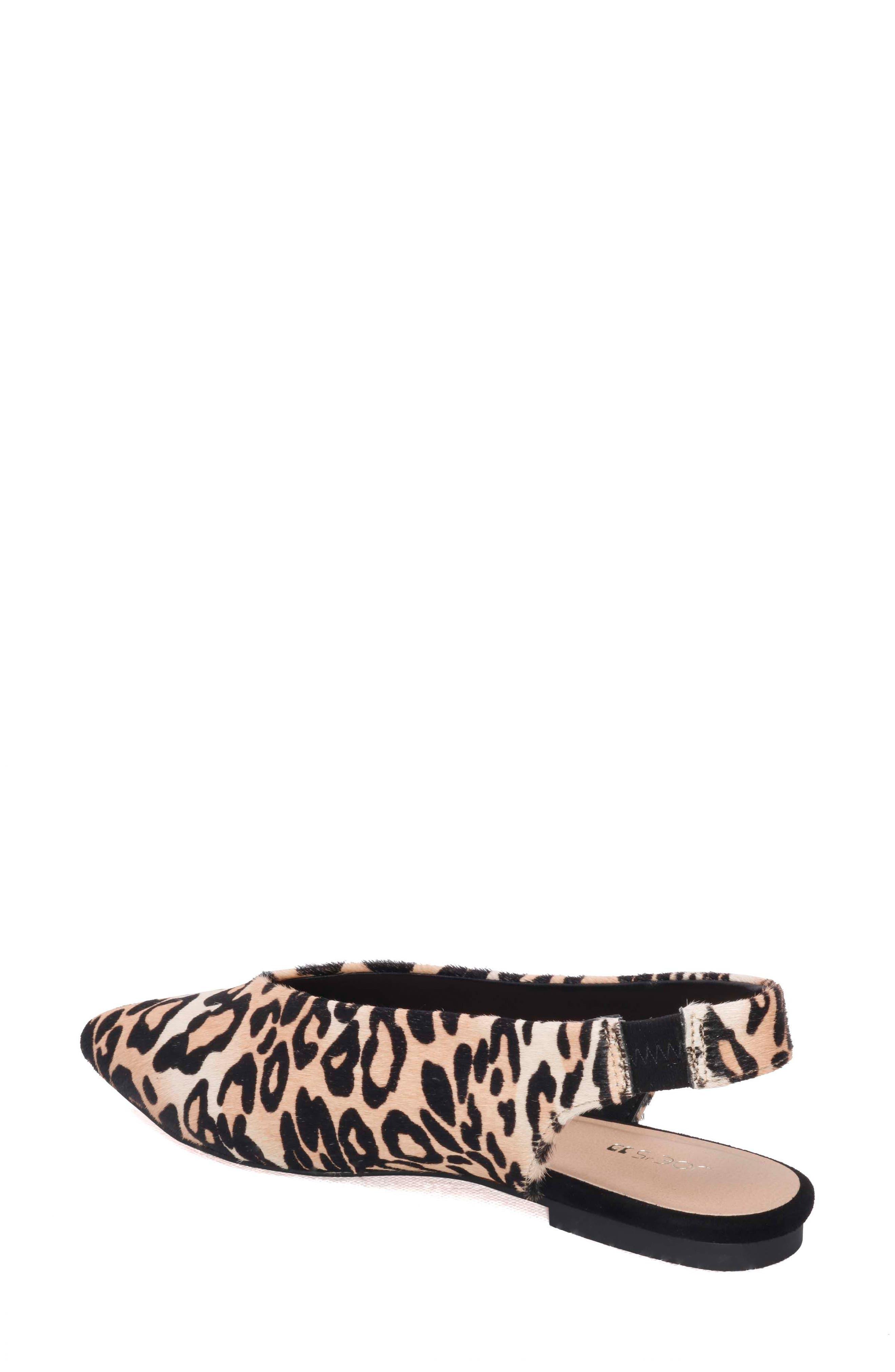 Violet Genuine Calf Hair Slingback Flat,                             Alternate thumbnail 2, color,                             Leopard Calf Hair