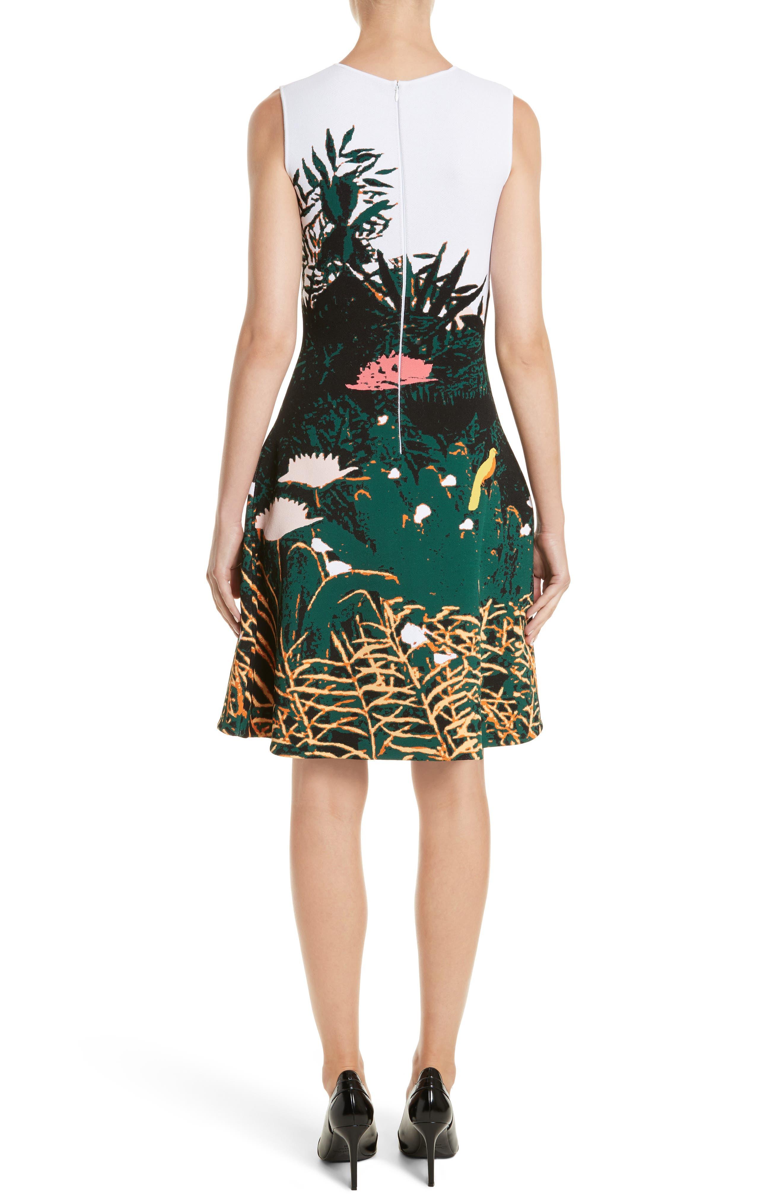 Sunset Intarsia Knit Dress,                             Alternate thumbnail 2, color,                             Multi