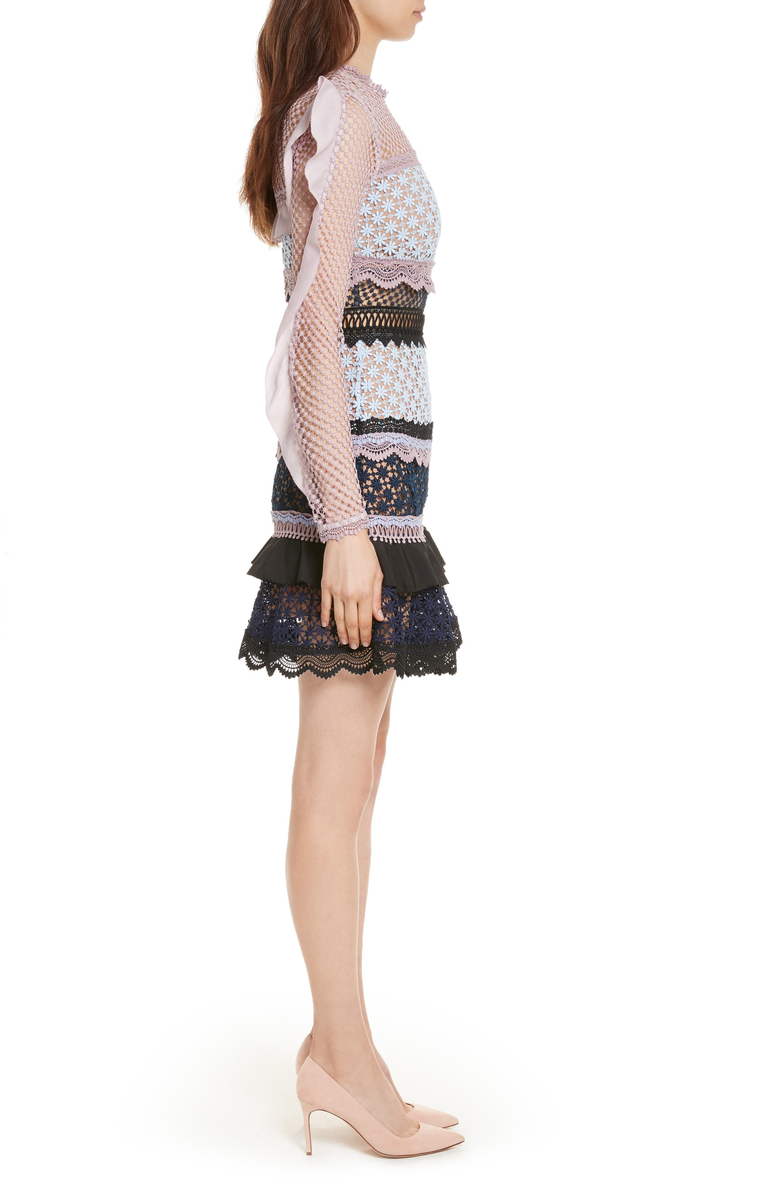 Alternate Image 3  - Self-Portrait Bellis Frill Lace Dress
