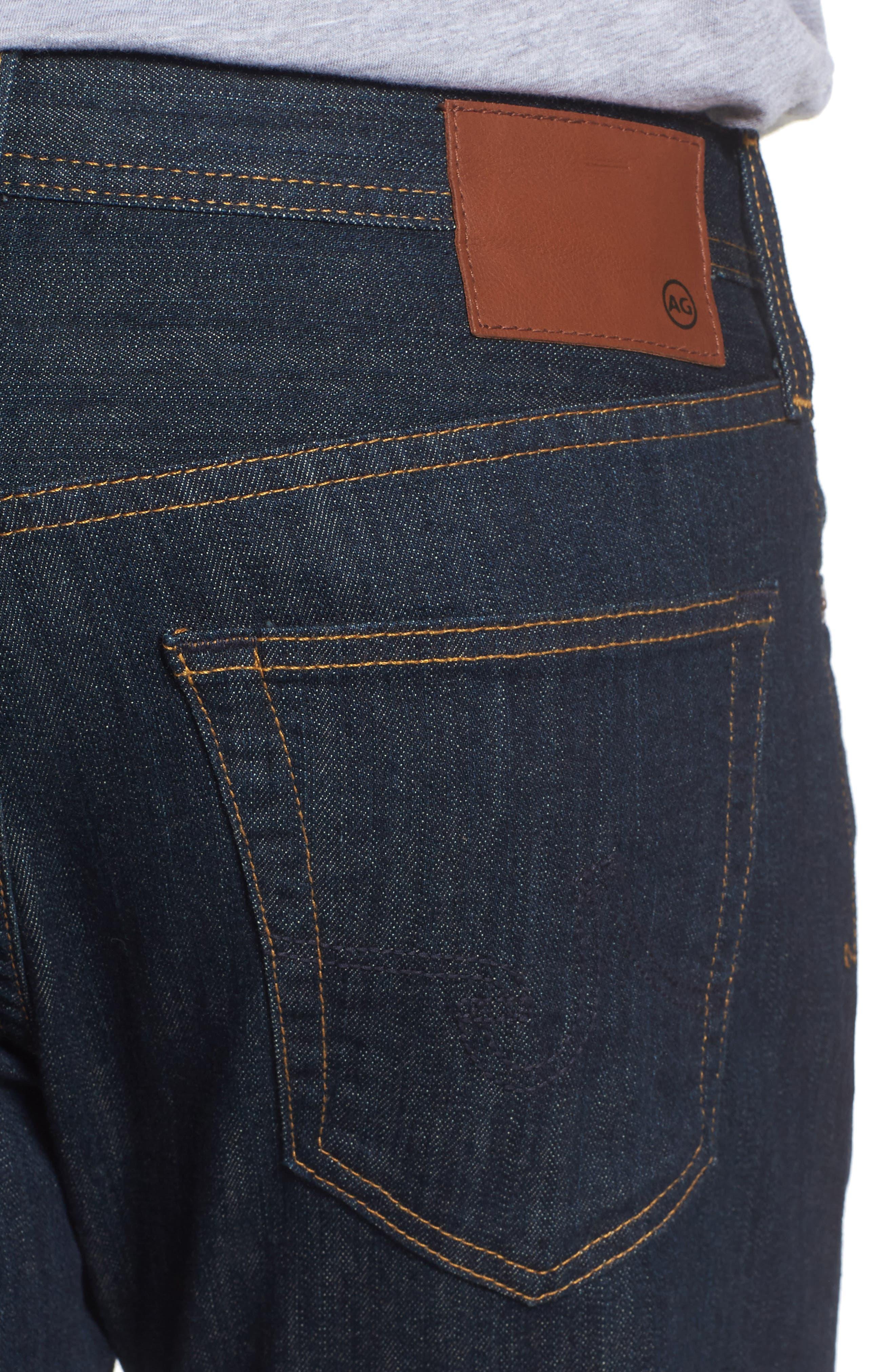 'Protégé' Straight Leg Jeans,                             Alternate thumbnail 4, color,                             Blake